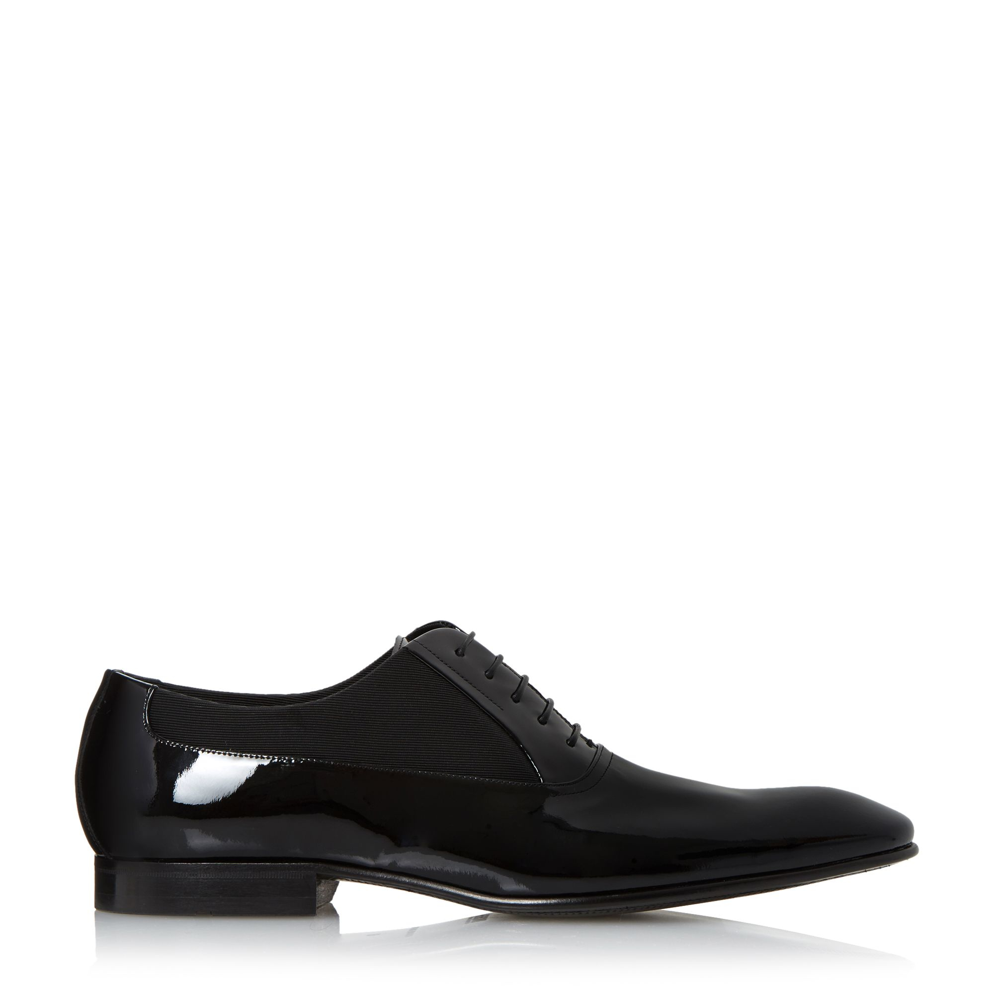 Versace Black Patent Leather Oxford Shoes
