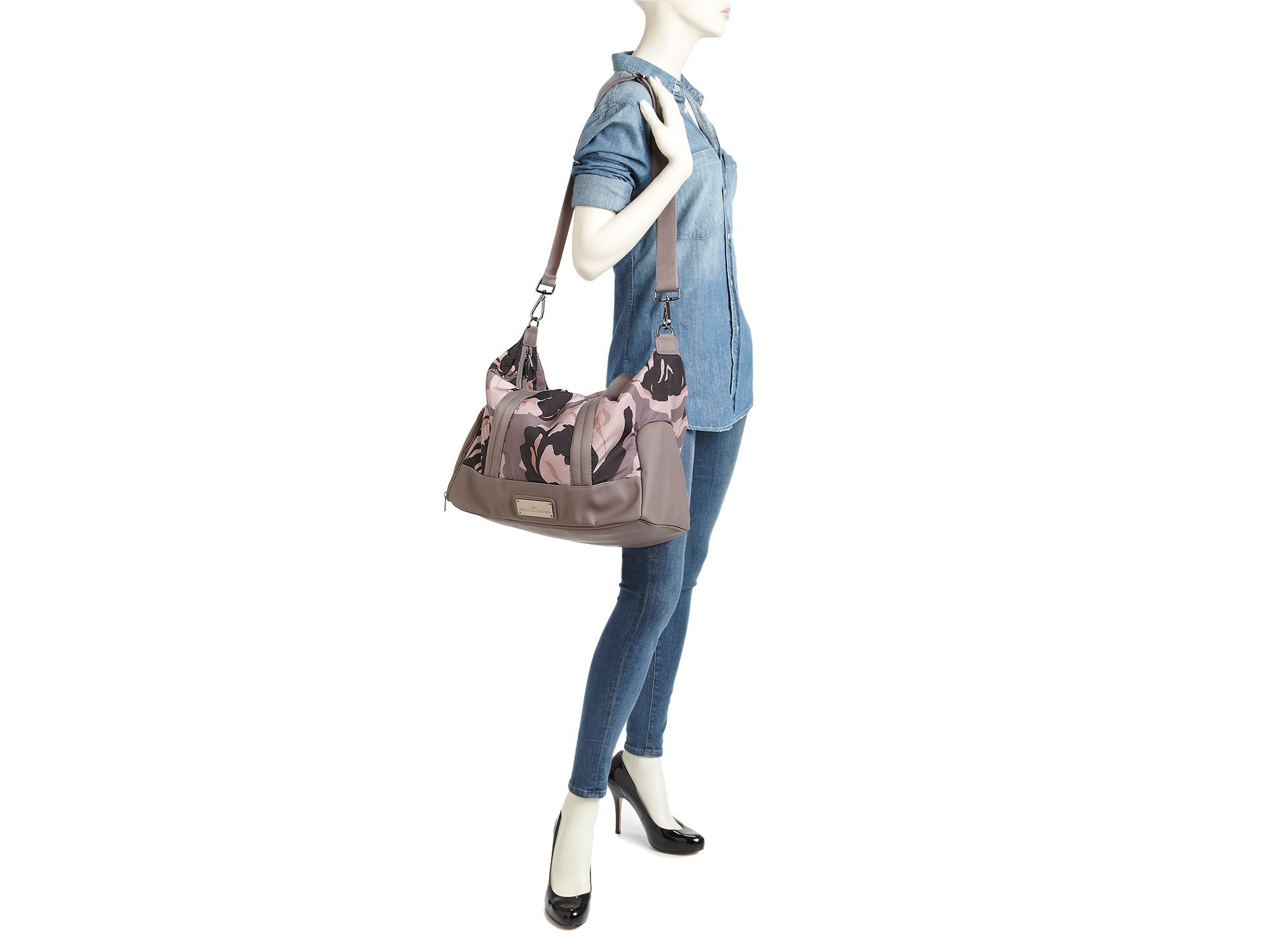 54d338ec0e Lyst - adidas By Stella McCartney Tote - Floral Camo Small Gym Bag ...