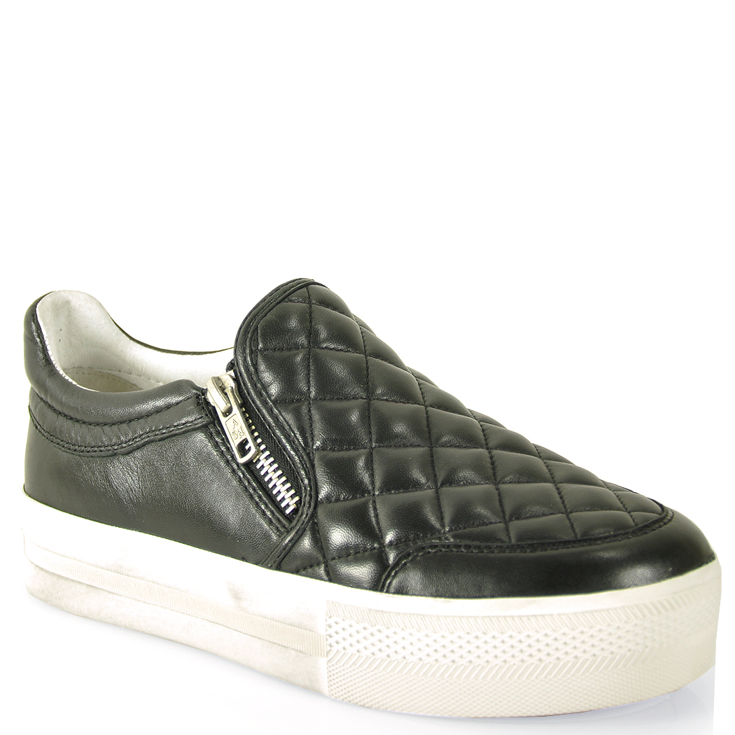 ash quilted sneaker in black lyst