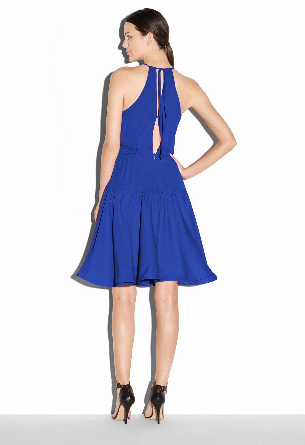 Cobalt blue stretch dress