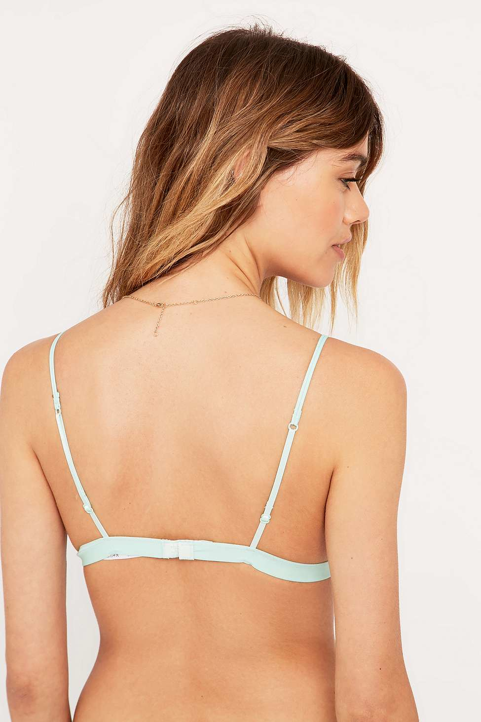 cc44db28ab Urban Outfitters Linear Brooke Green Bralette in Green - Lyst
