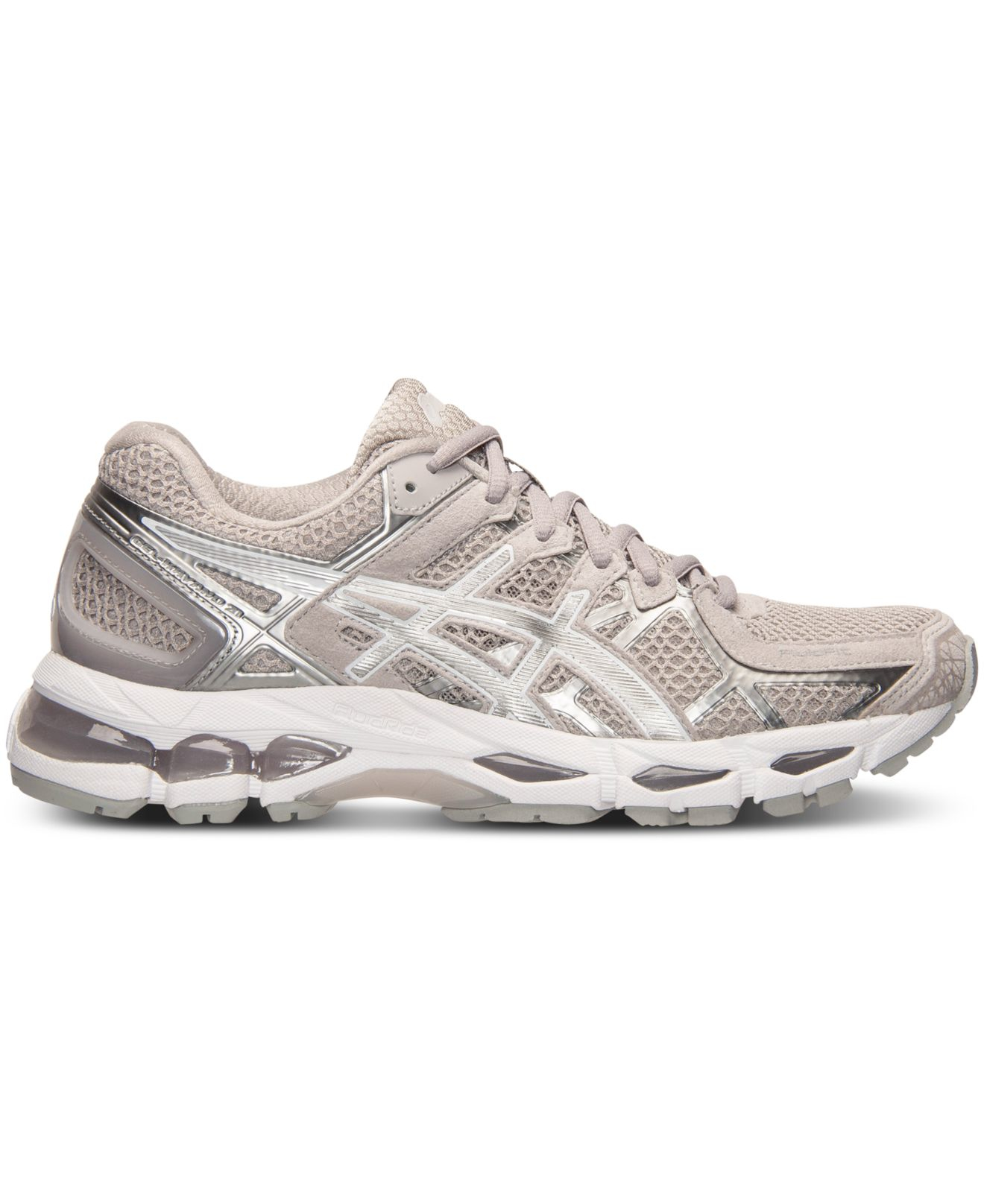 asics women 39 s gel kayano 21 running sneakers from finish line in white lyst. Black Bedroom Furniture Sets. Home Design Ideas