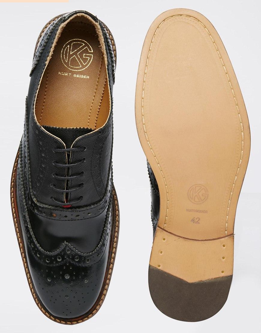 Kurt Geiger Black Brogue High Heel Shoe