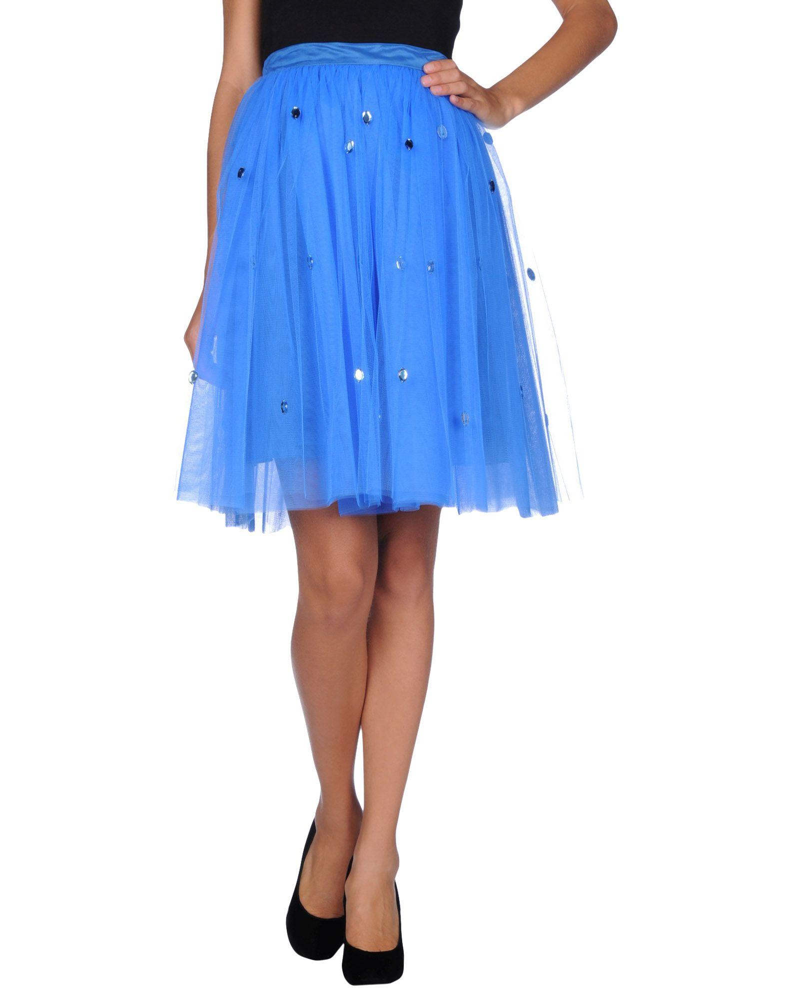 au jour le jour knee length skirt in blue lyst