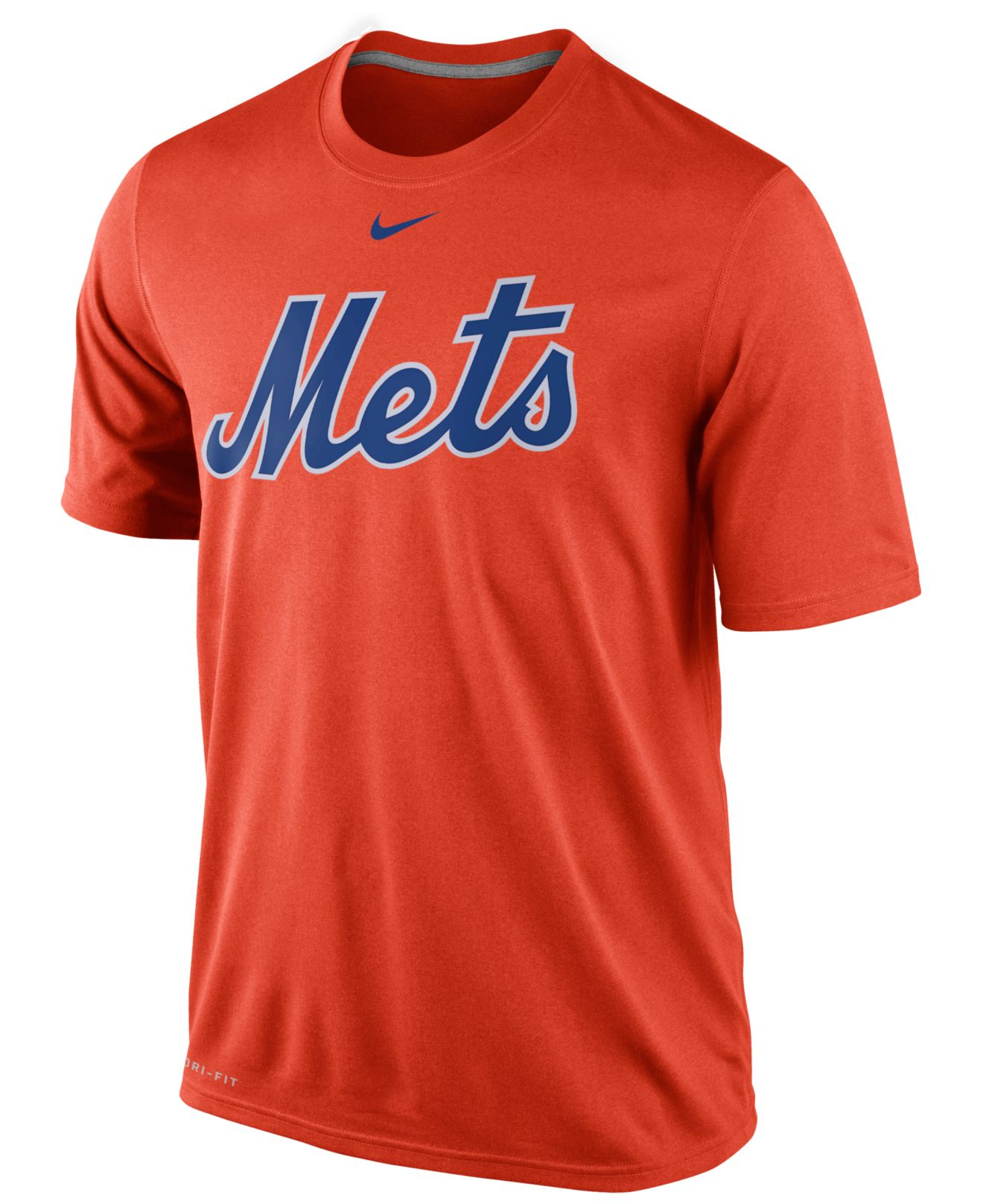 Nike men 39 s new york mets legend wordmark t shirt in orange for T shirt screen printing nyc