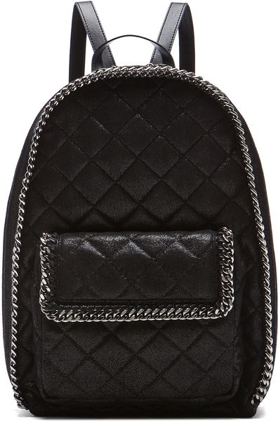 stella mccartney quilted rucksack in black lyst. Black Bedroom Furniture Sets. Home Design Ideas