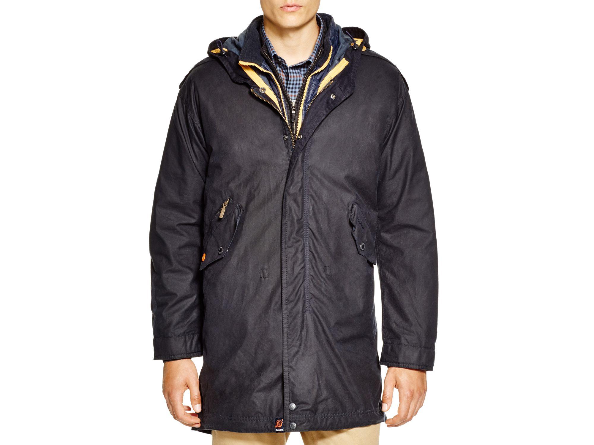 Lyst Barbour Kellen Waxed Cotton Jacket In Blue For Men