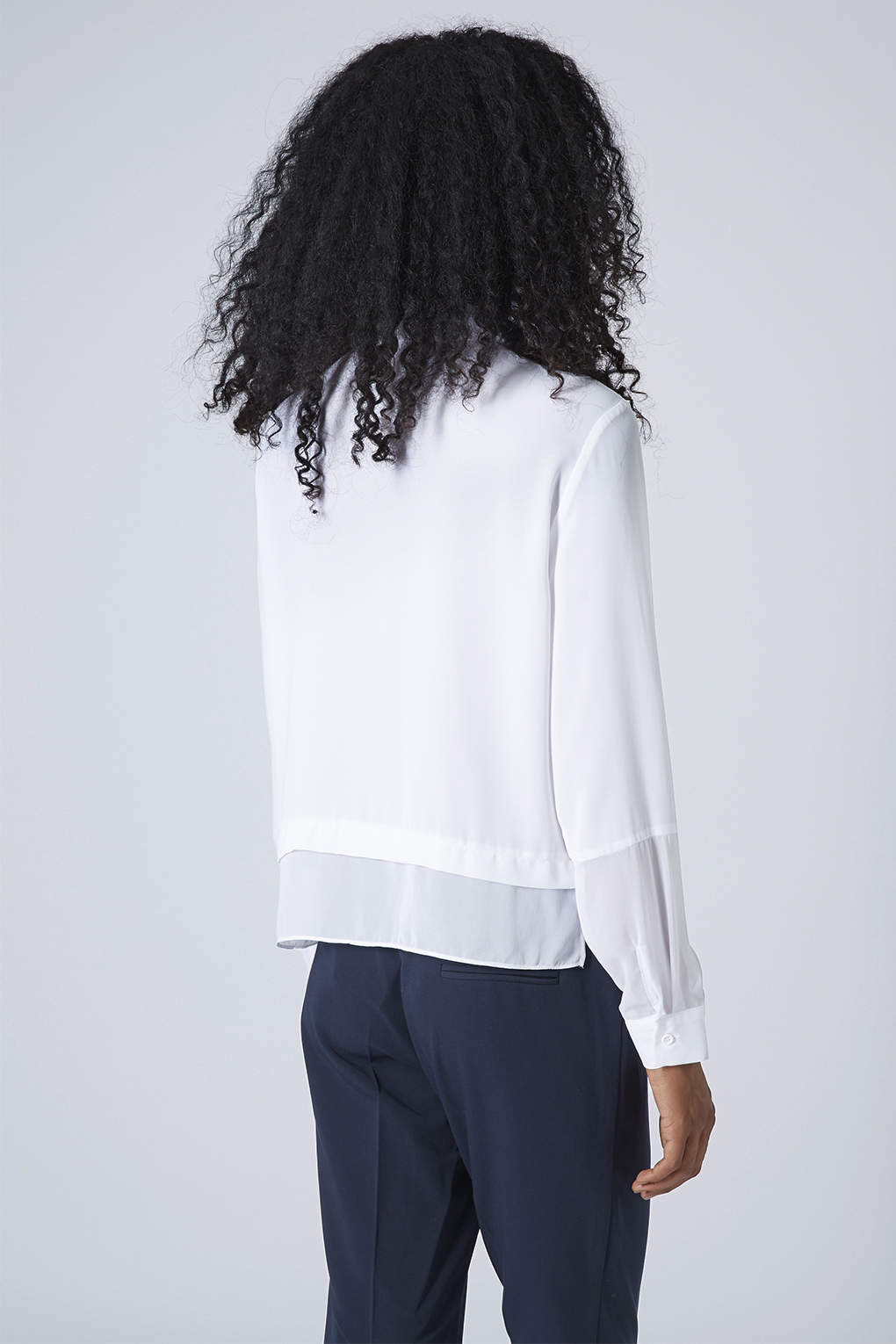 Lyst topshop womens bead embellished collar shirt white for Womens denim shirts topshop