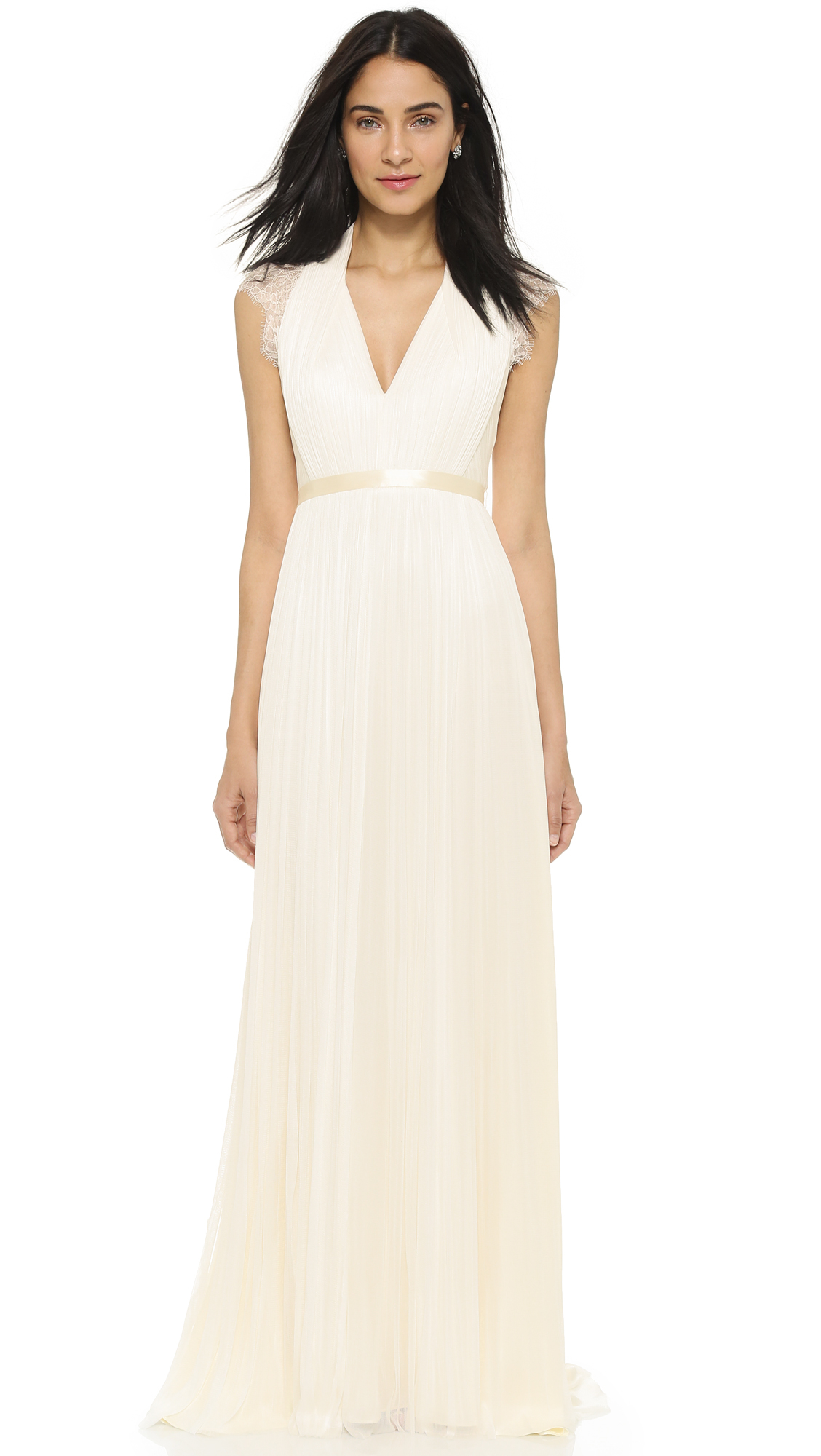 Lyst - Catherine Deane Laverne Gown - Oyster in Natural