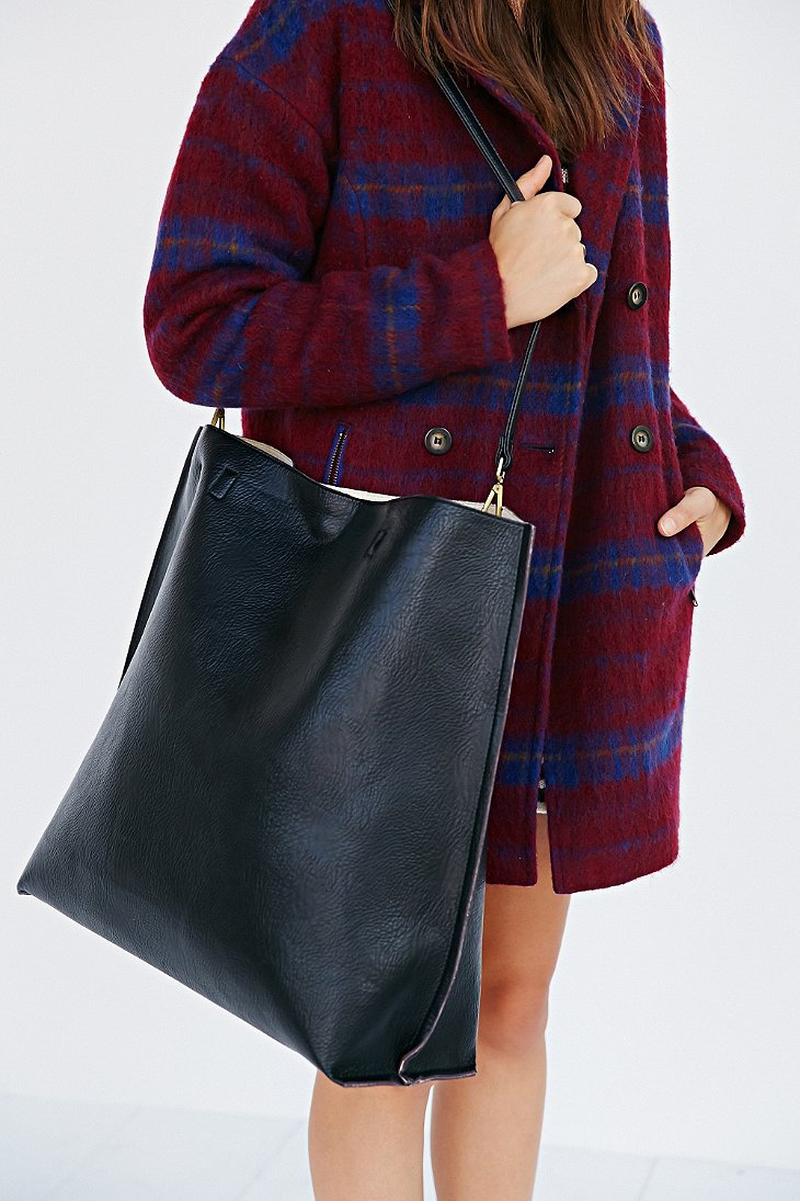 Lyst Urban Outfitters Oversized Reversible Vegan Leather