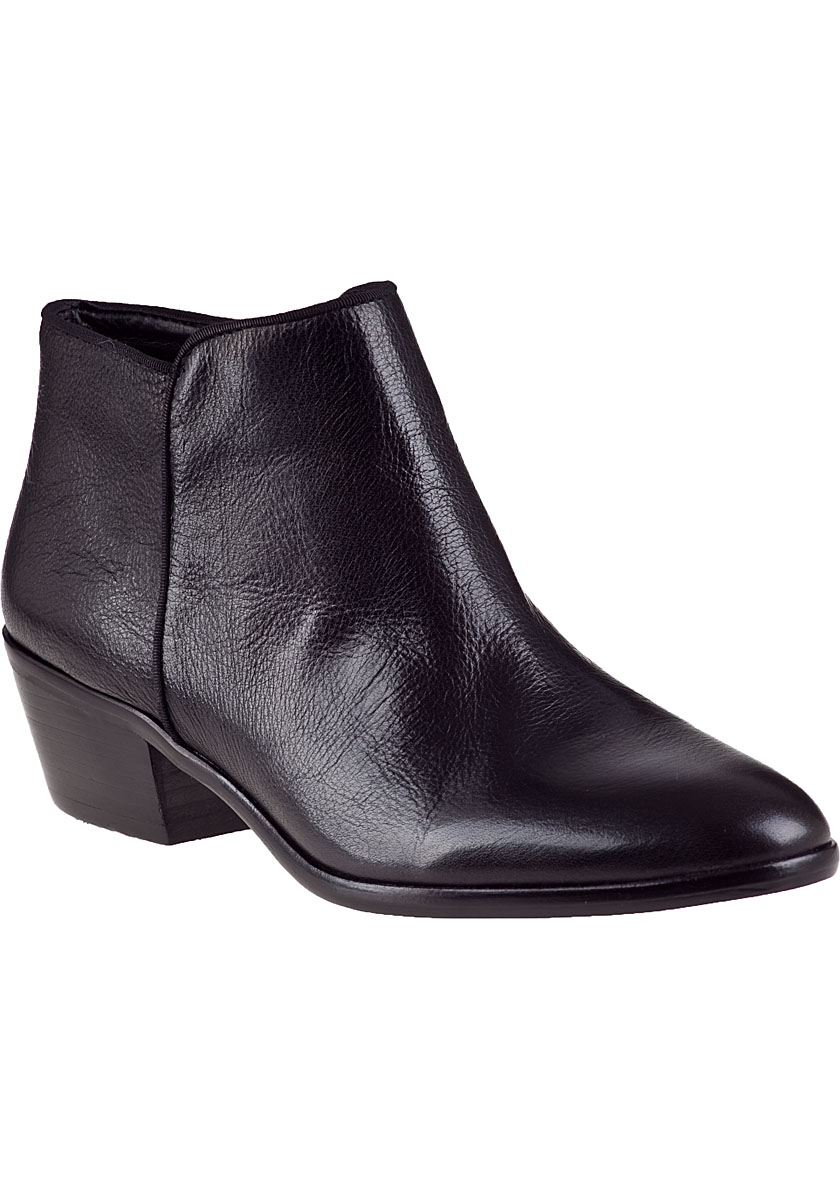 sam edelman petty ankle boot black leather in black black