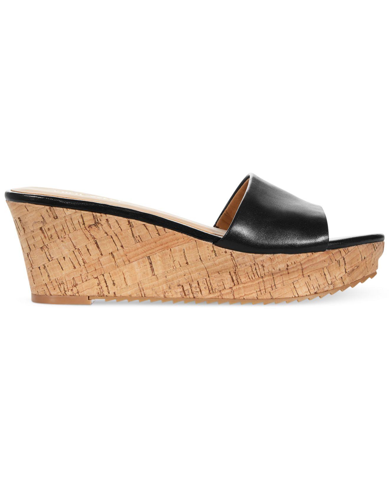 473d4cfd41b Lyst - Nine West Confetty Platform Slide Sandals in Black