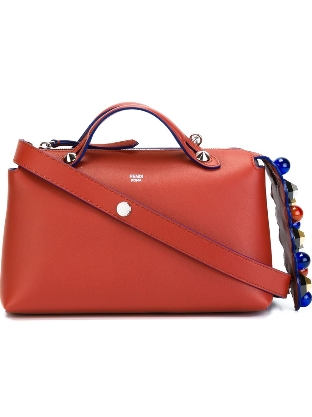 ac9fc1f8dee Fendi By The Way Medium Leather Tote in Red - Lyst