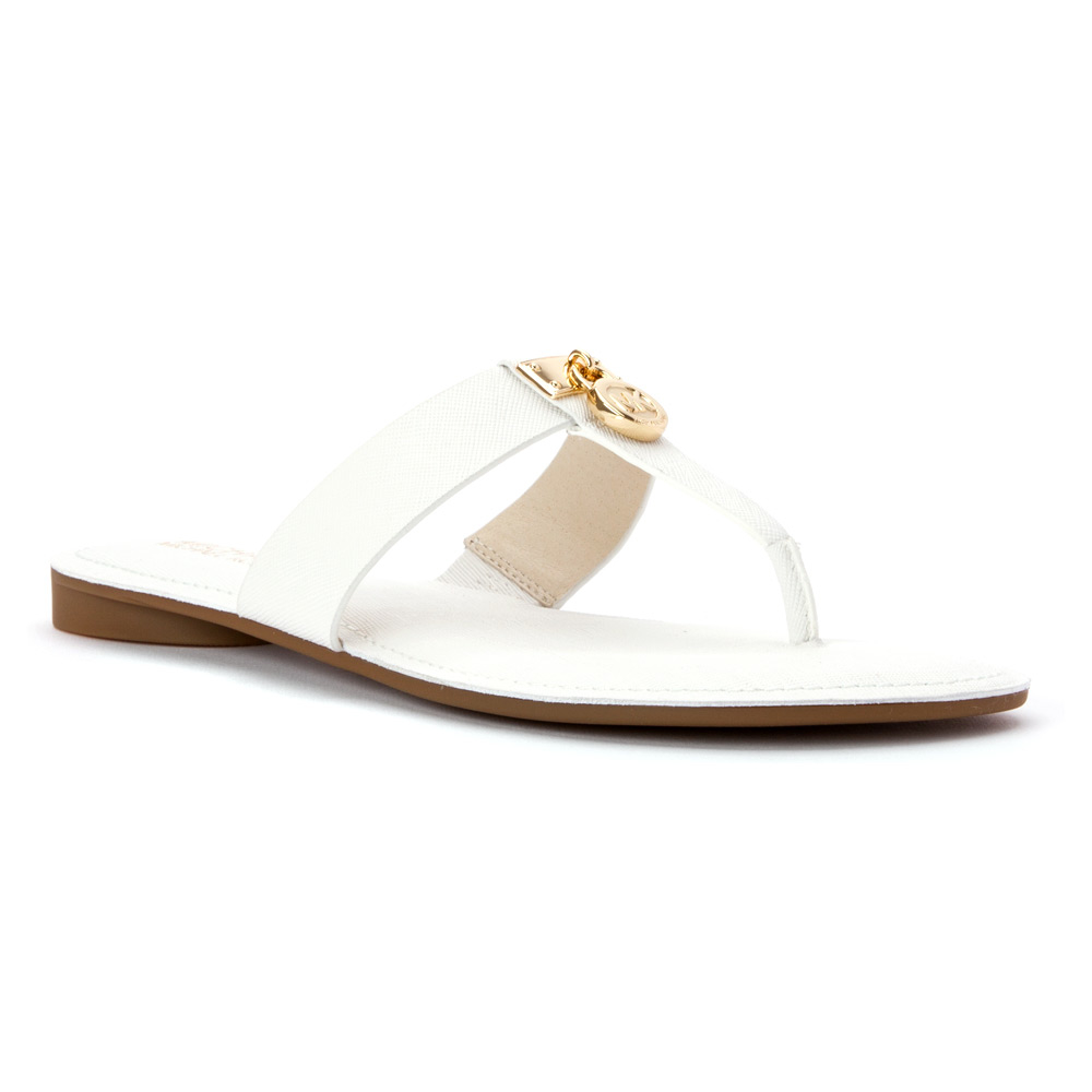 c90e382c7ce Lyst - MICHAEL Michael Kors Hamilton Flat Sandal in White