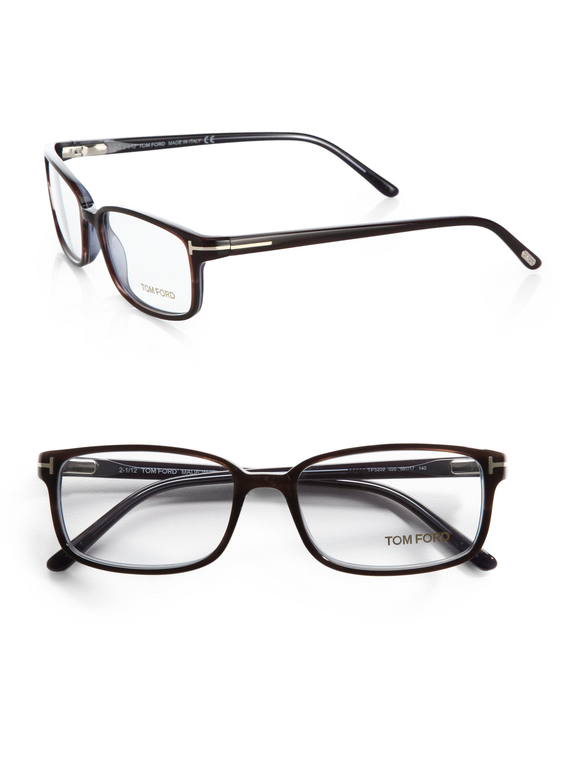 tom ford 5209 rectangular optical frames in gray for
