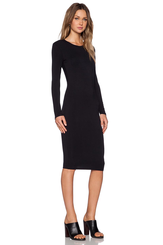 Wedding Black Long Sleeve Dress blq basiq longsleeve dress in black lyst gallery