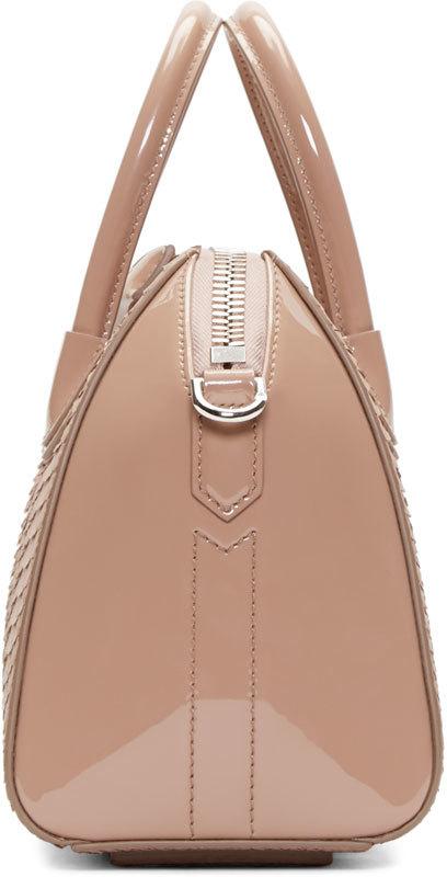 2e4646c71e49 Lyst - Givenchy Pink Python Leather Mini Antigona Bag in Pink