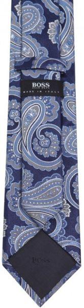 Black Silk Paisley Tie in