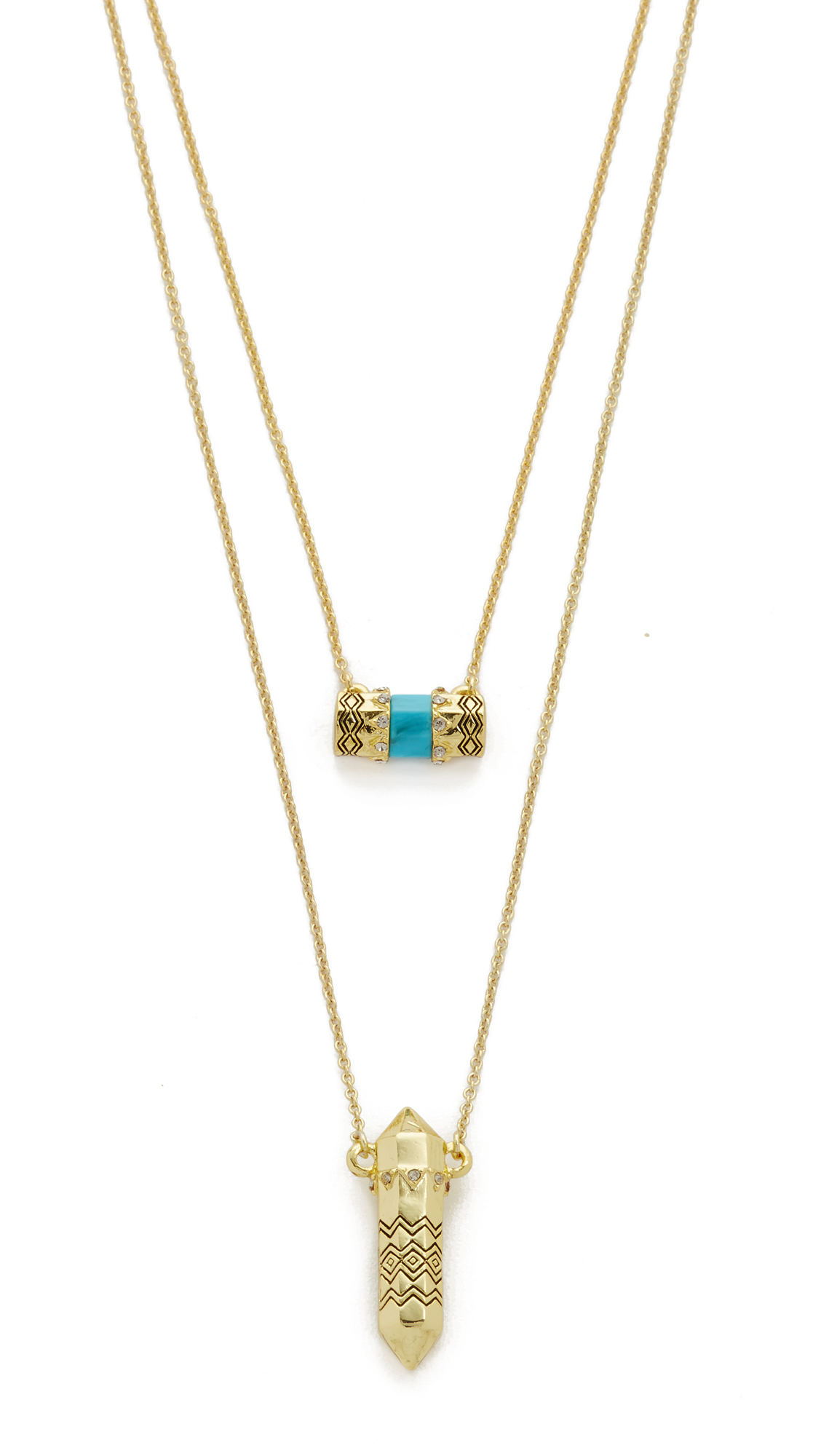 house of harlow 1960 prana pendant necklace in