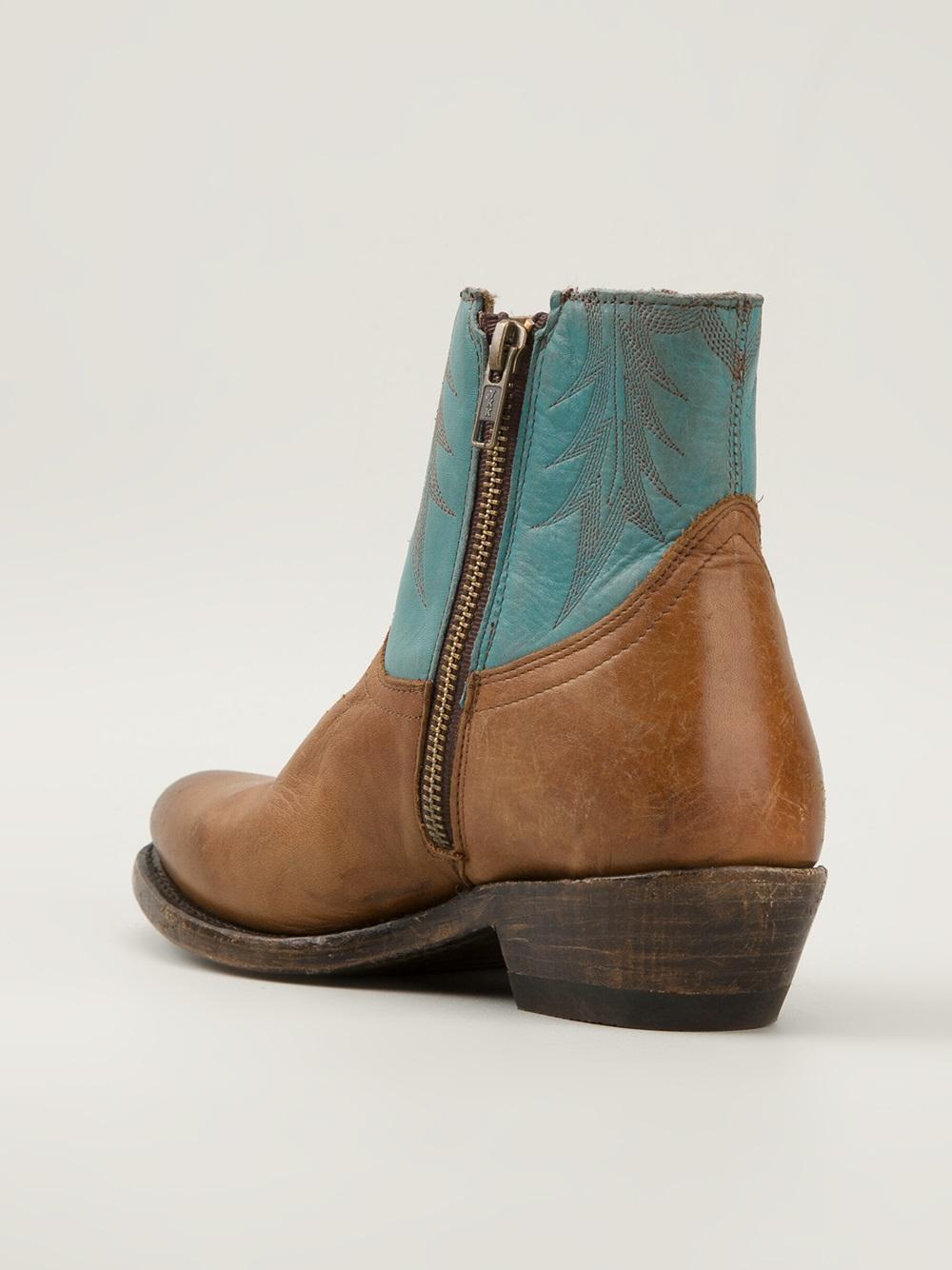 Ash Leather Western Boots 32CW5w6xBx
