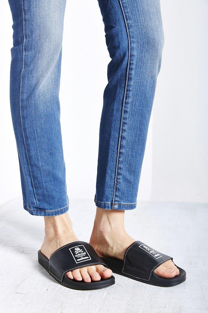 Lyst - adidas Originals X Neighborhood Adilette Slide Sandal in Black e8f581ae24ed