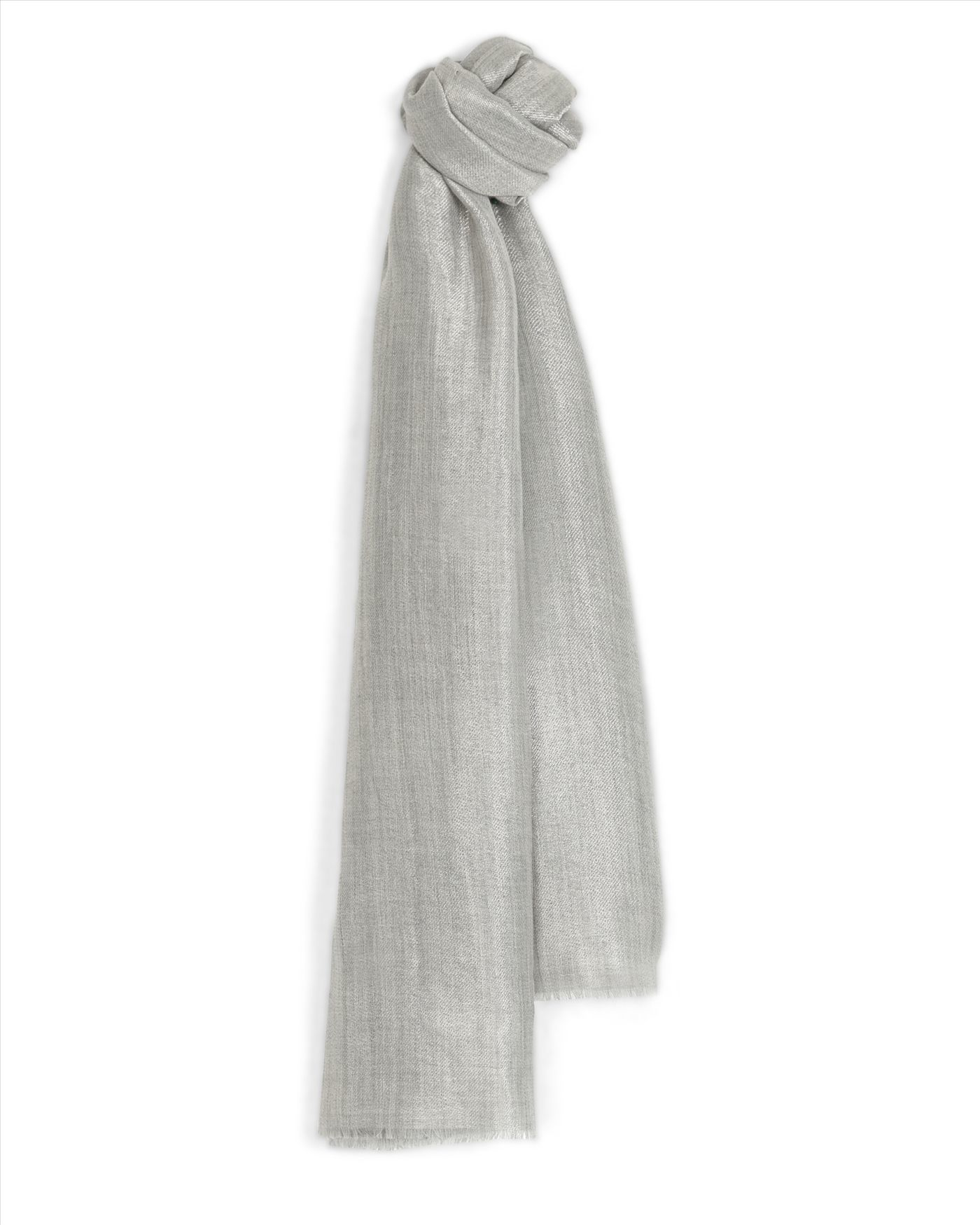 jaeger metallic occasion scarf in gray lyst