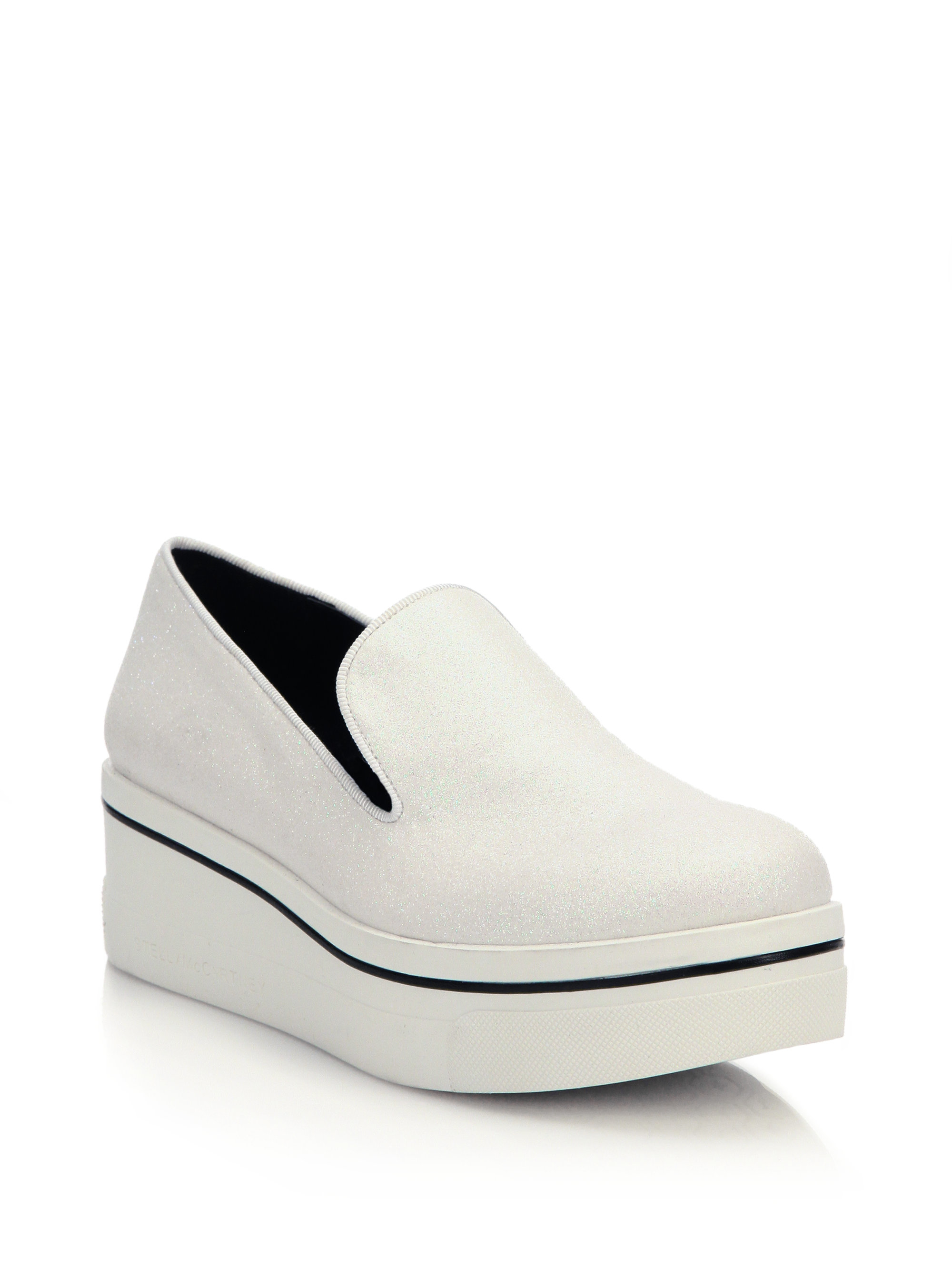 43f27d752f2 Lyst - Stella McCartney Binx Platform Loafers in White