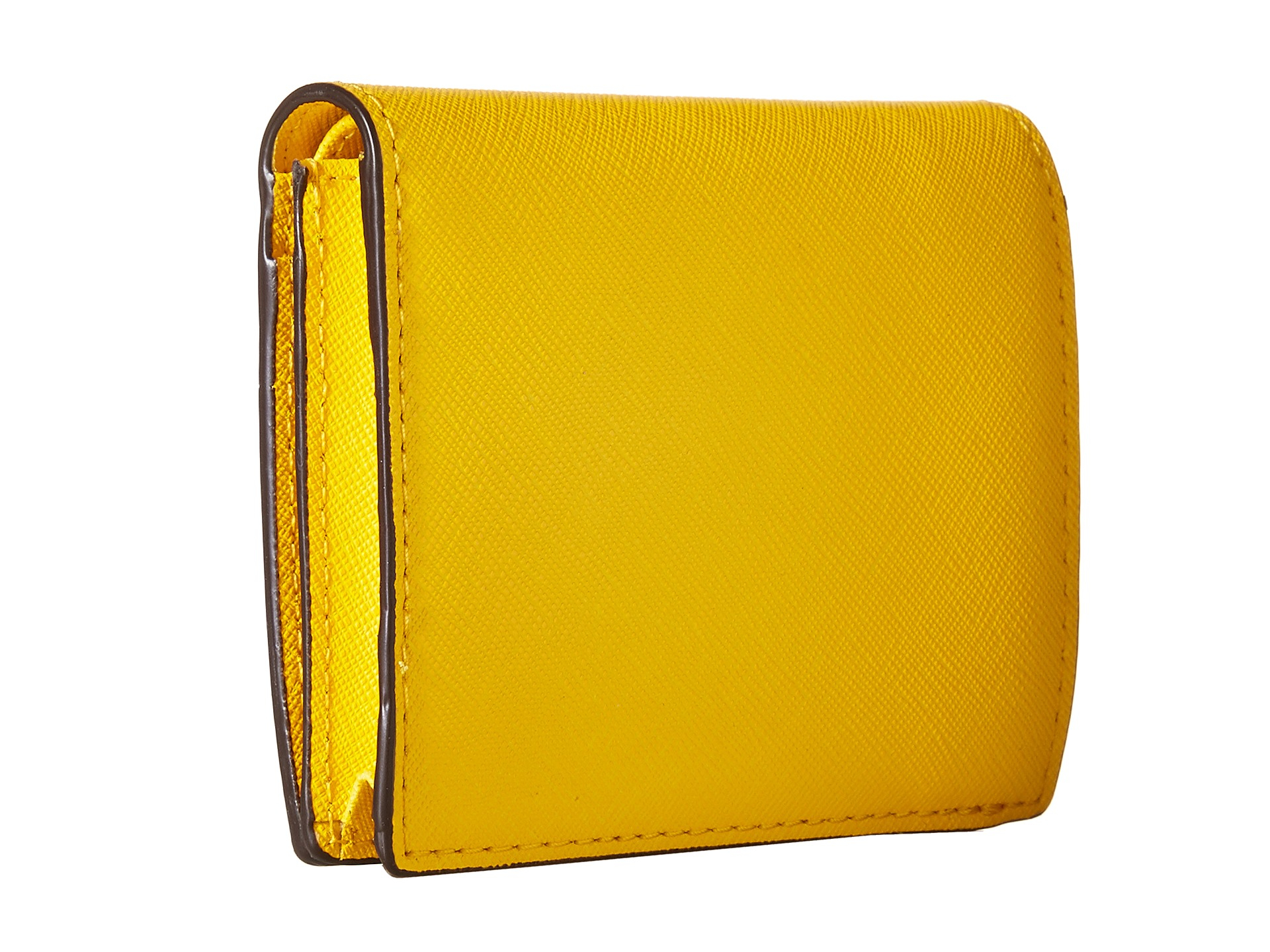 82968415e0ad1 Lyst - MICHAEL Michael Kors Jet Set Travel Flap Card Holder in Yellow