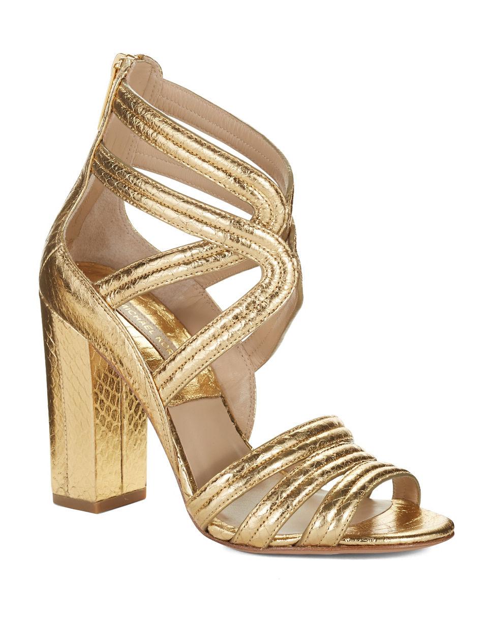 michael kors sandals gold - 28 images - michael michael ...