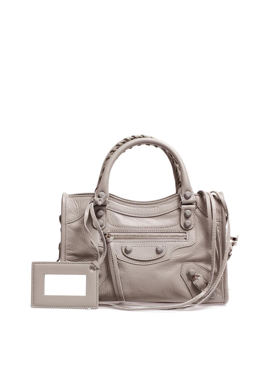 Lyst Balenciaga Classic Mini City Leather Shoulder Bag