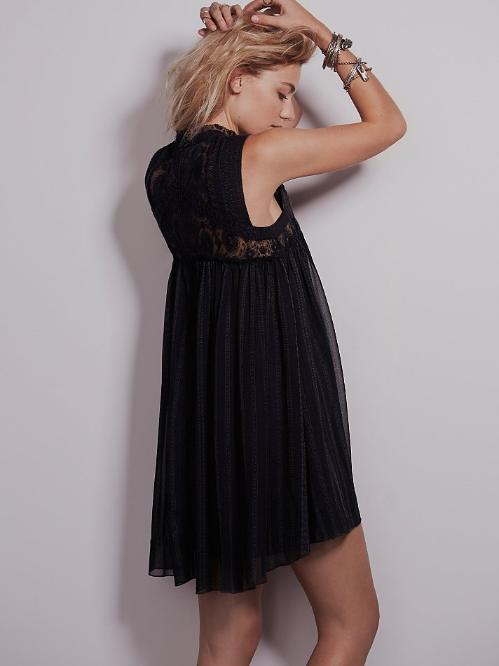 Free People Womens Babylon Dress In Deep Navy Black Lyst