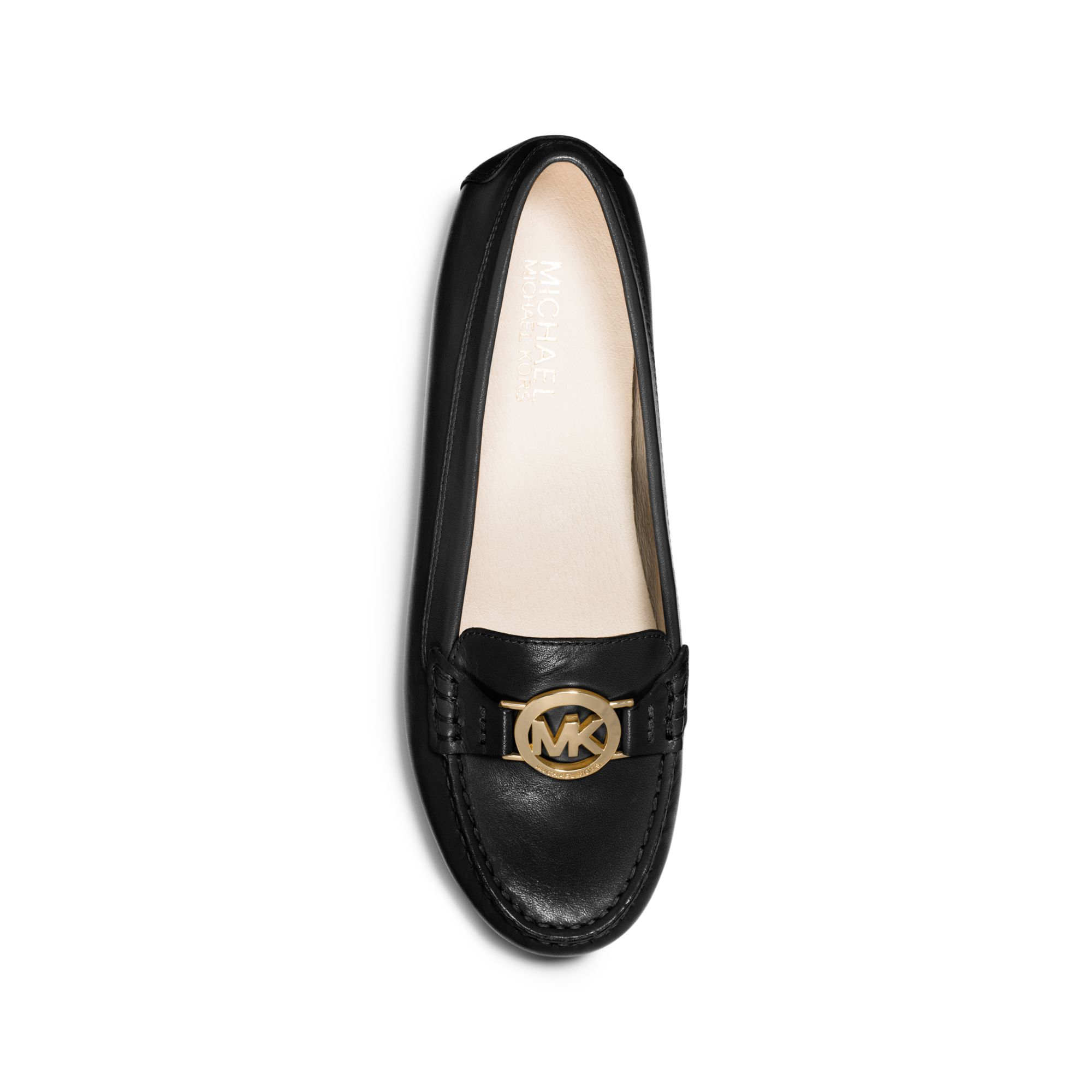 4e49722dd45a4 Lyst - Michael Kors Molly Leather Loafer in Black