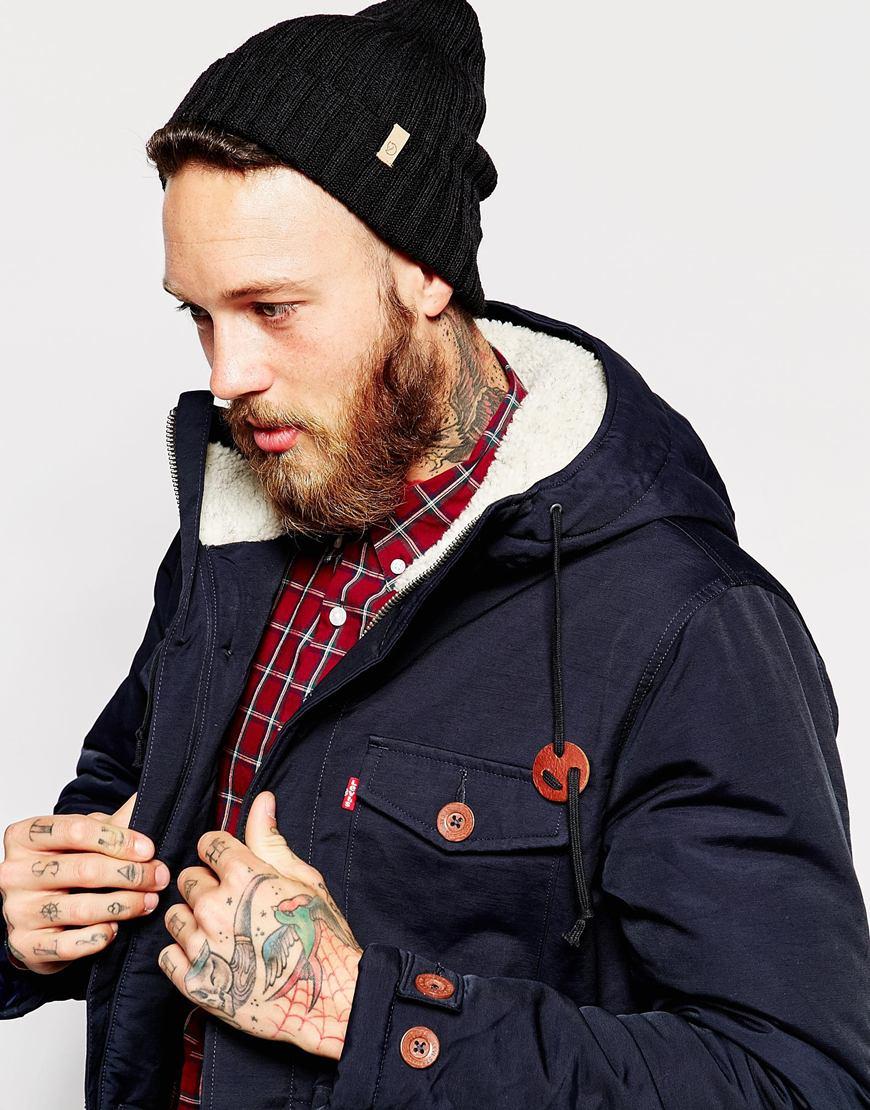 Lyst - Fjallraven Byron Beanie Hat in Black for Men 3156b4d4f50