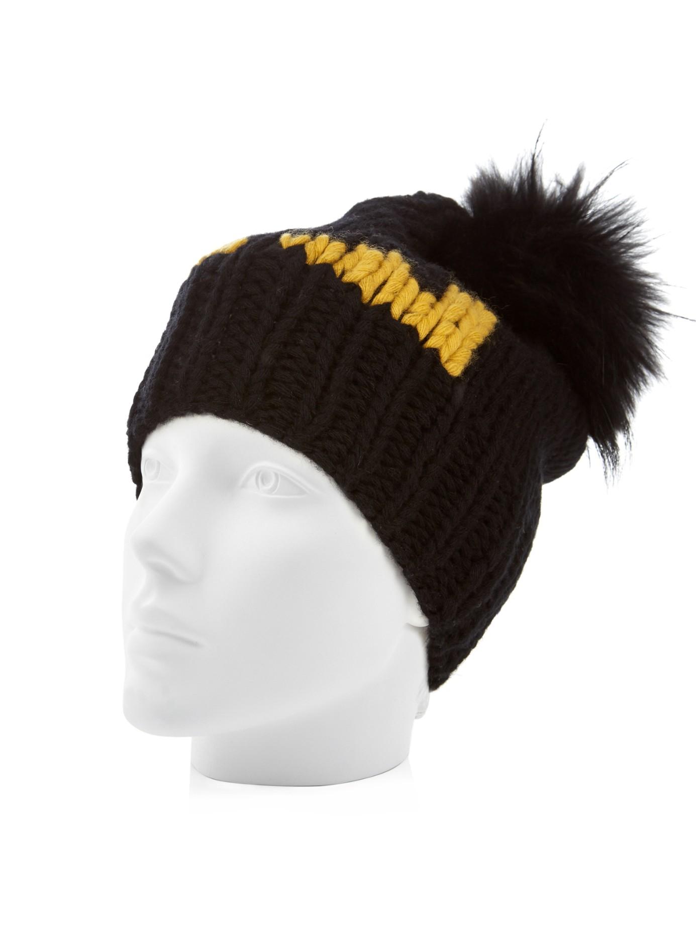 e5b423ac977 Fendi Bag Bugs-intarsia Wool-knit Beanie Hat in Black for Men - Lyst