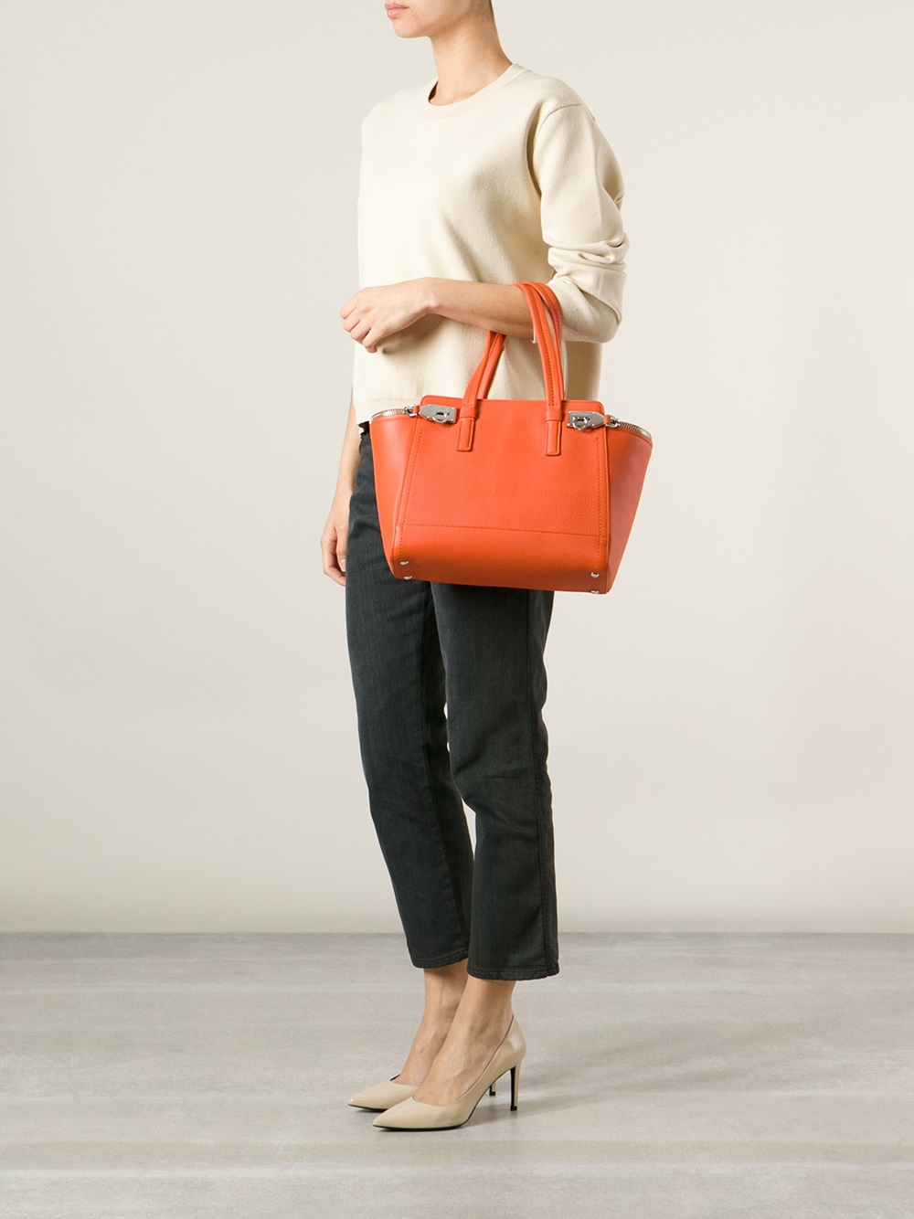 Lyst - Ferragamo Verve Tote in Orange dec3d83b13e0a