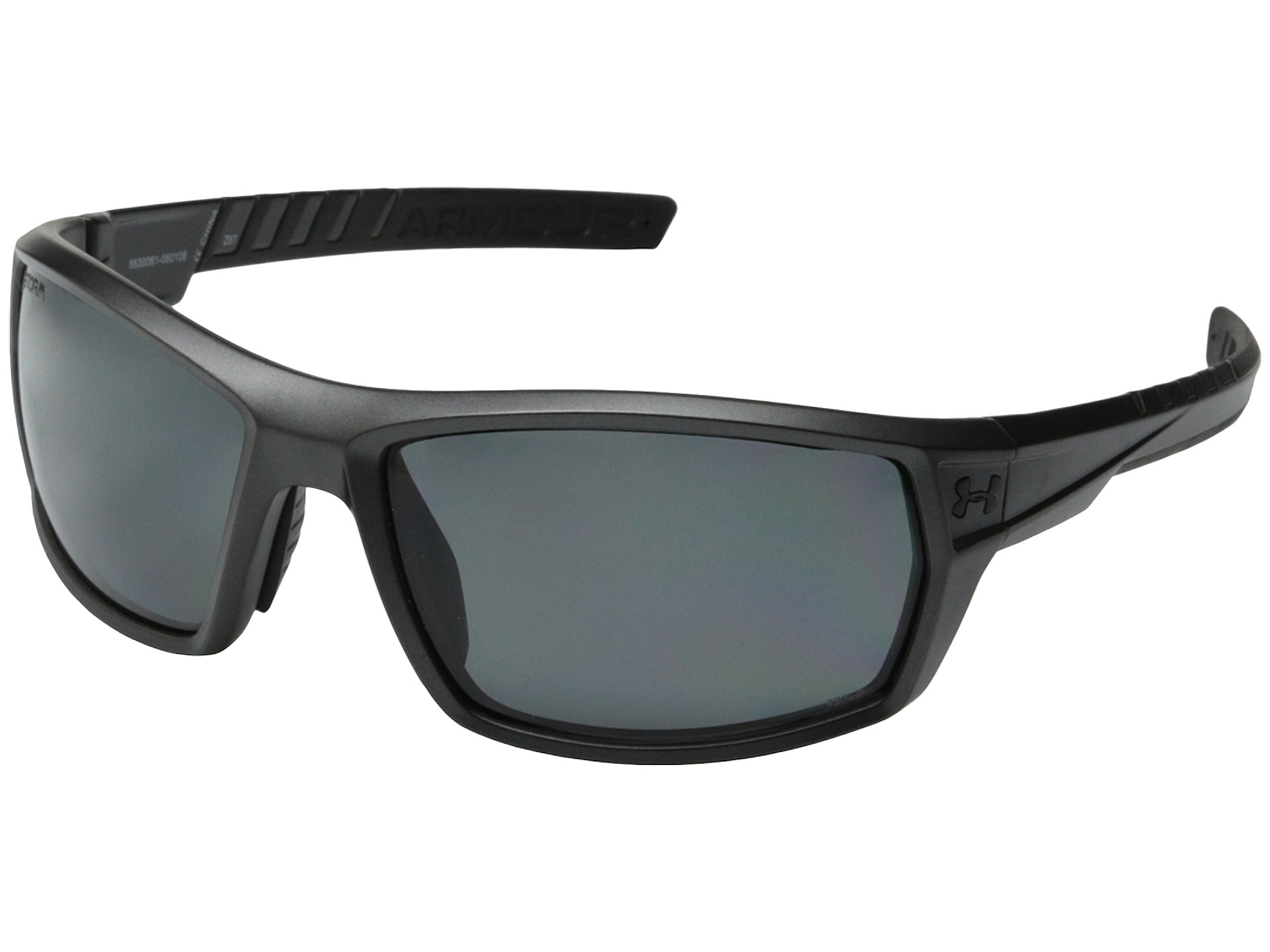 3b1b013626 ... Satin Carbon Black Rubber Sunglasses with Grey Polarized Multi-Flection  ... Under armour Ua Ranger Storm in Black for Men Lyst