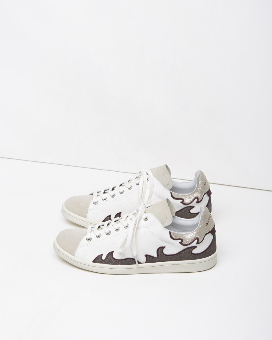 247af6e975b Étoile Isabel Marant Gilly Low-Top Sneakers in Metallic - Lyst