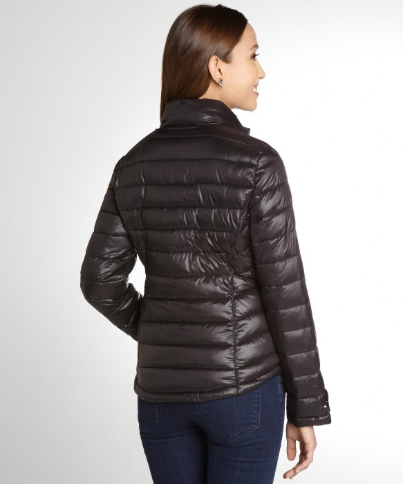 Calvin klein Black Stretch Quilted Lightweight Down Filled
