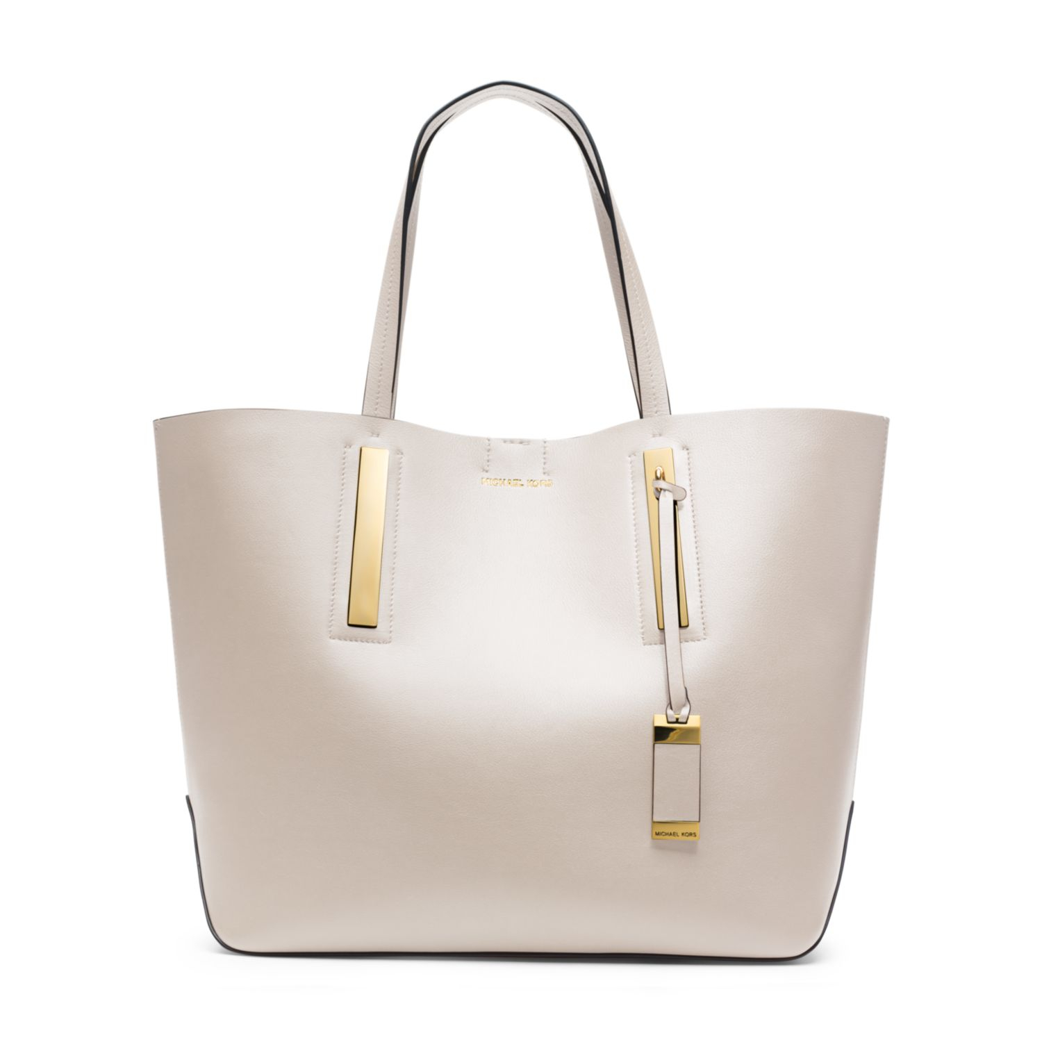 c8d87e983903 Michael Kors Jaryn Calf Leather Tote in Natural - Lyst
