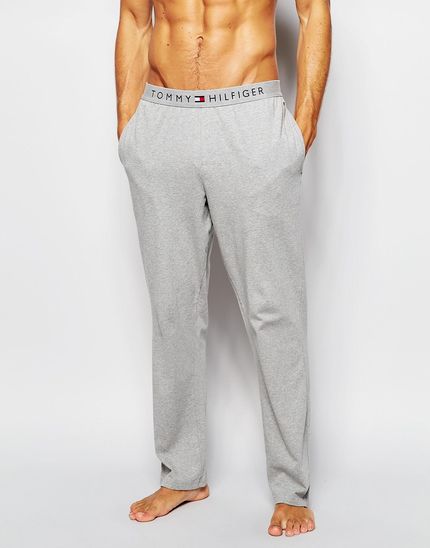 Lyst - Tommy Hilfiger Icon Cotton Pant In Regular Fit in Gray for Men 848cc9c3476f