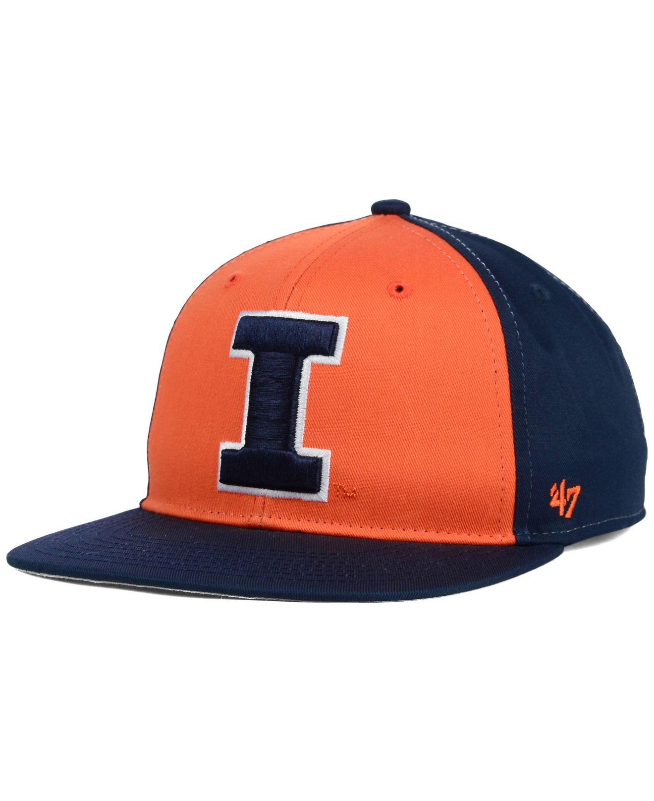 promo code 318c3 a705a ... real lyst 47 brand kids illinois fighting illini snapback cap in blue  a47c8 15574