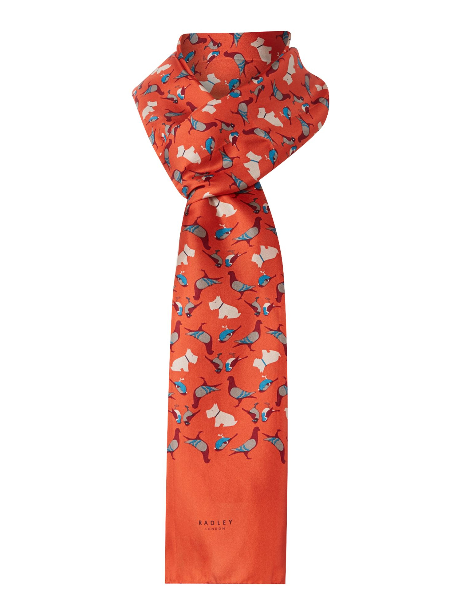 radley a little bird told me long silk scarf in orange lyst gallery