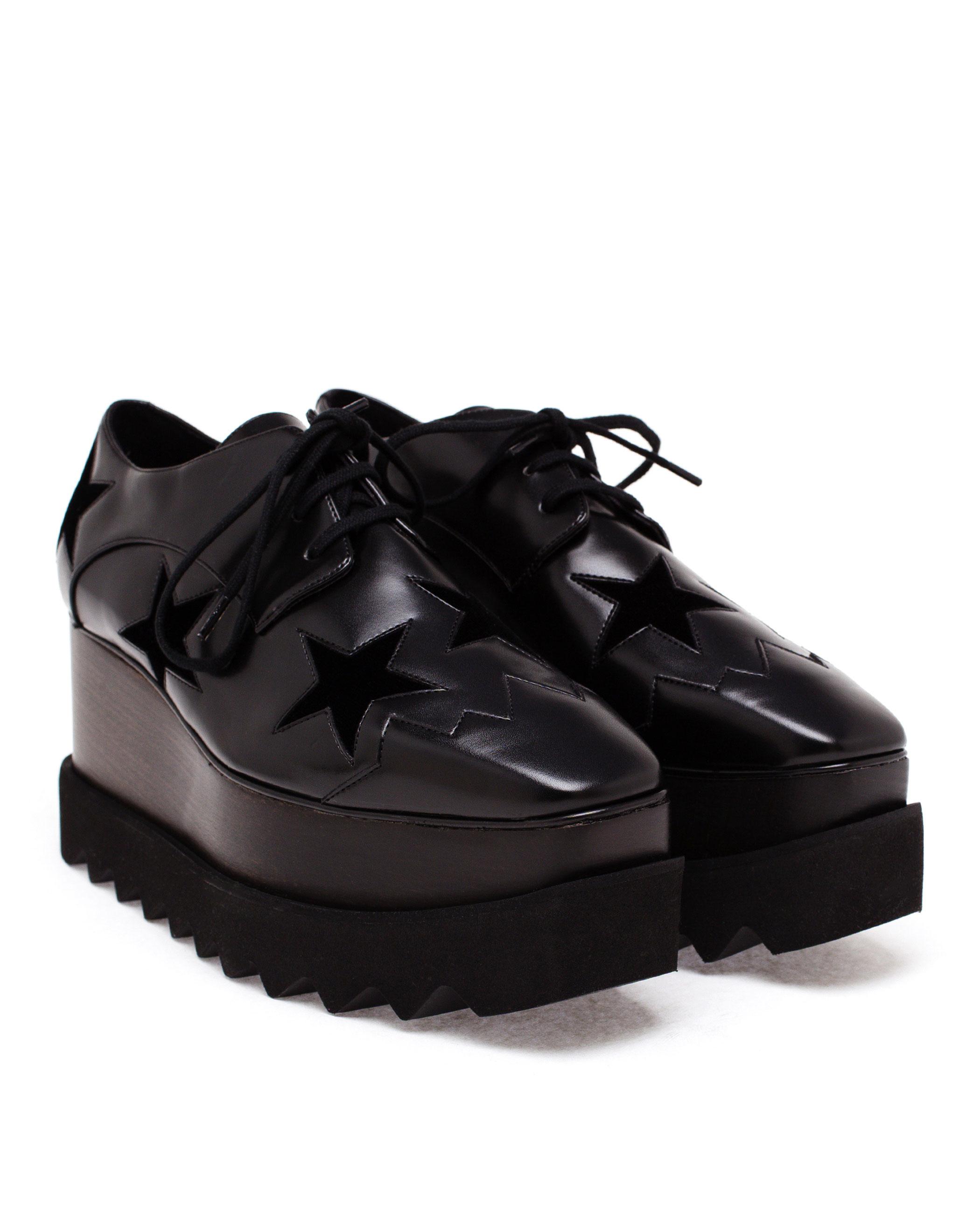 Black Elyse Brushed Star Shoes