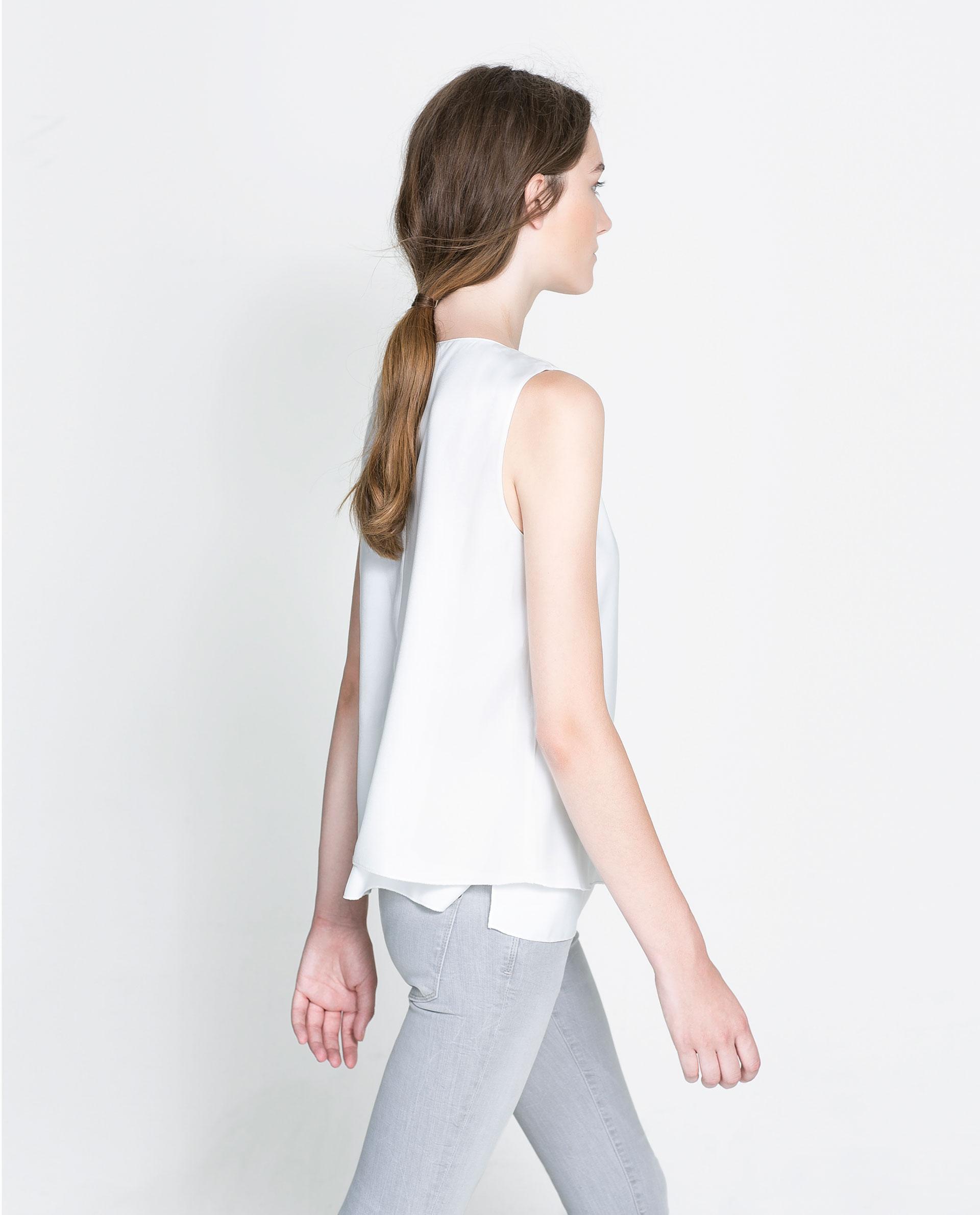 Zara Sleeveless Blouse 80