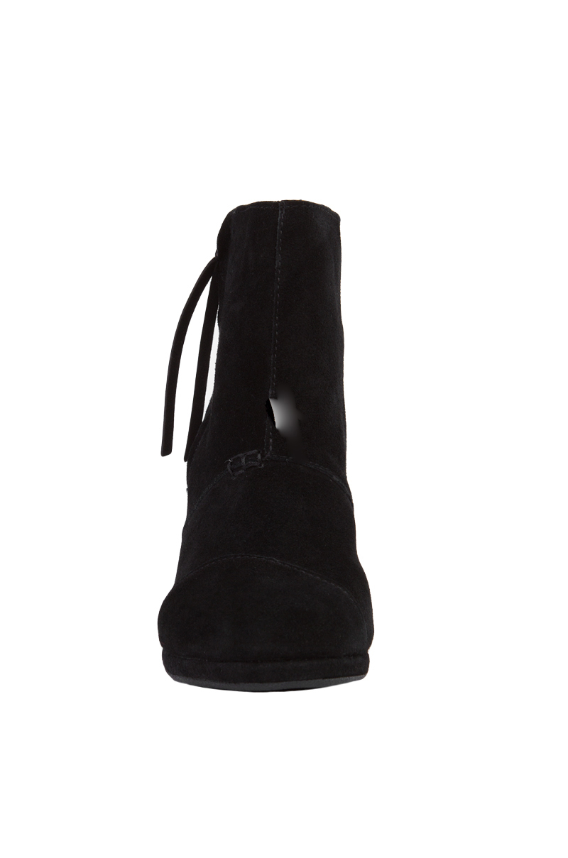 e0b1b198241 Lyst - TOMS Desert Wedge High Ankle Boots - Black Suede in Black