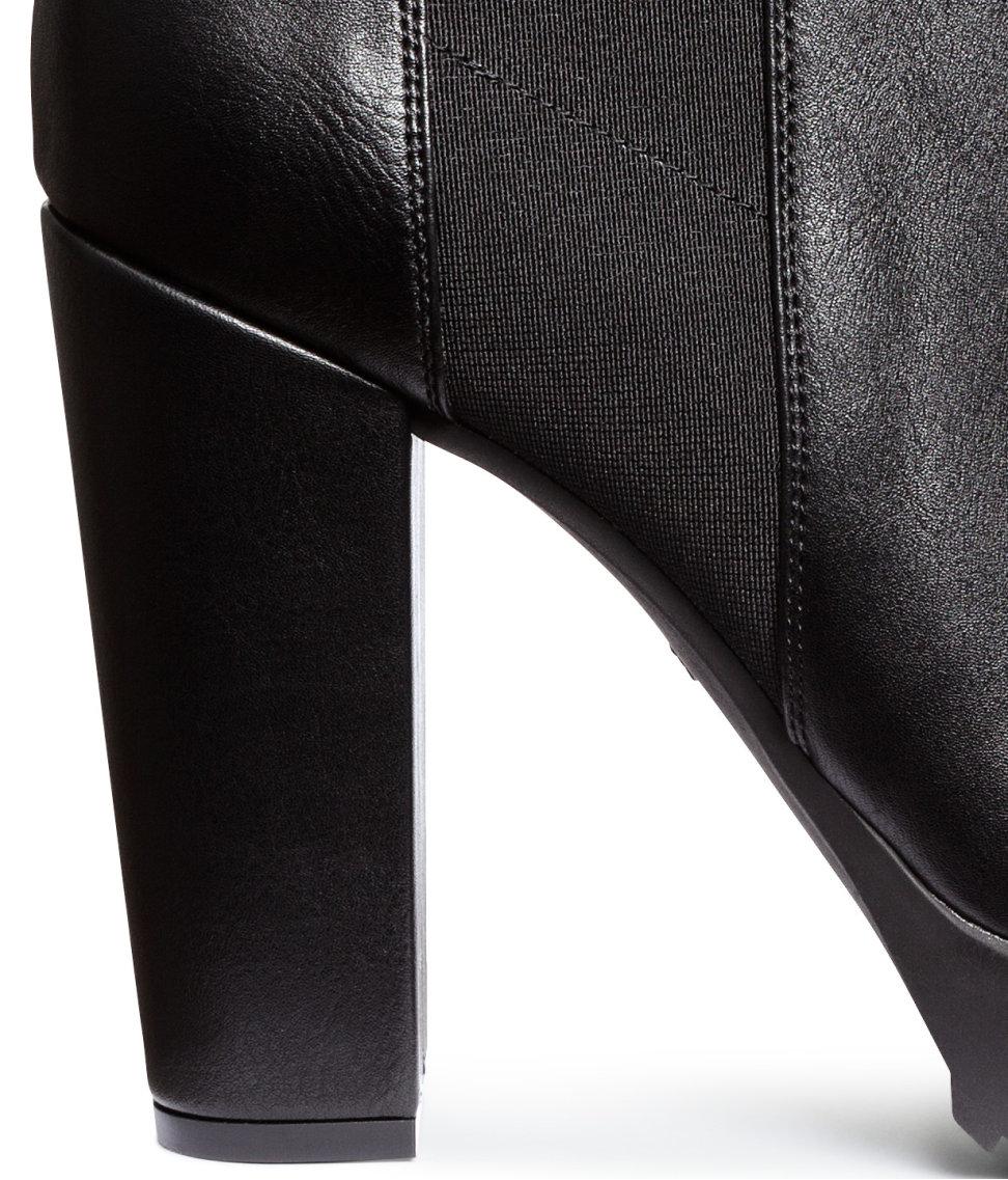 4e732509c7ec H M Platform Ankle Boots in Black - Lyst