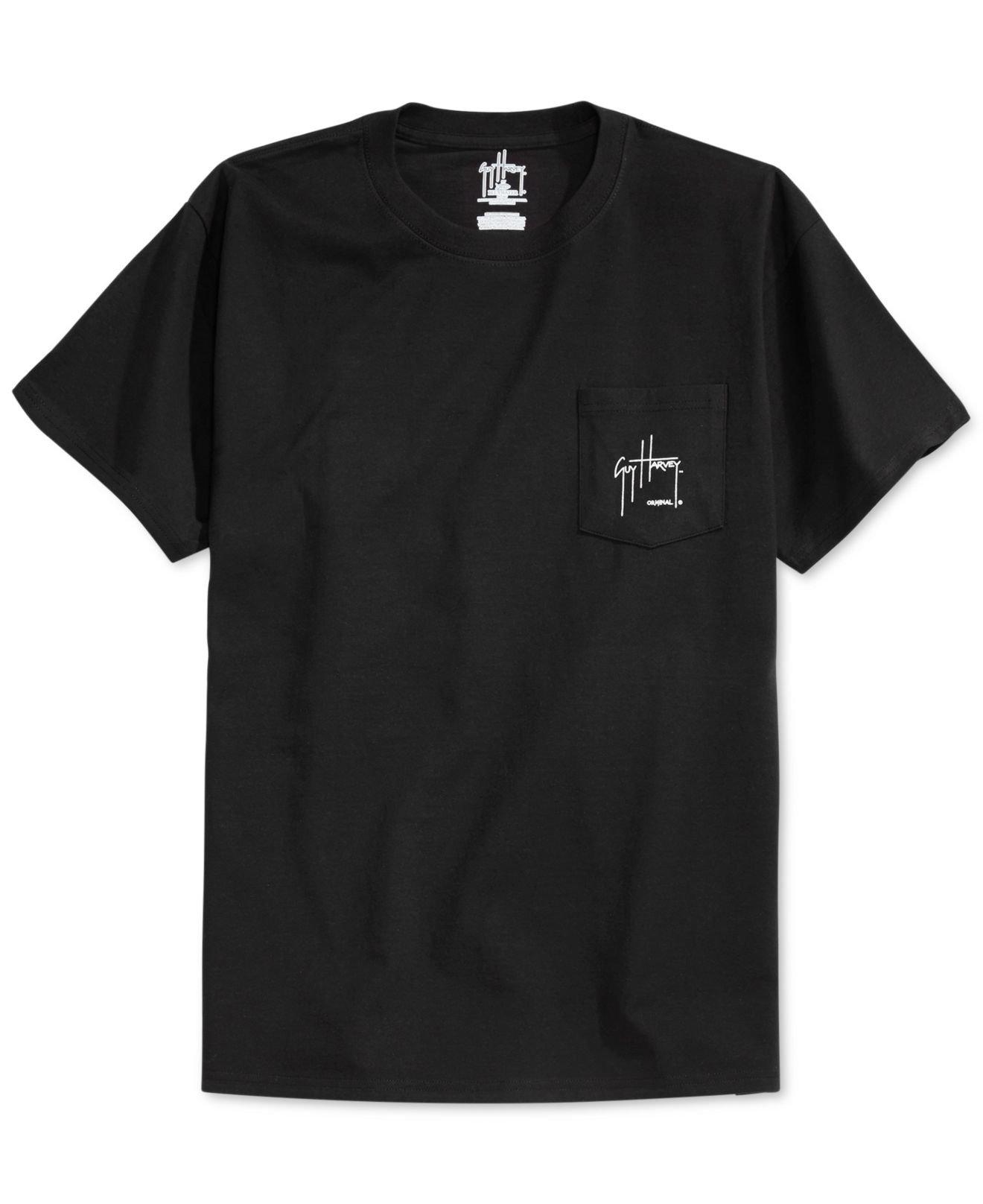 Guy Harvey Black Chainsaw Pocket T Shirt For Men Lyst
