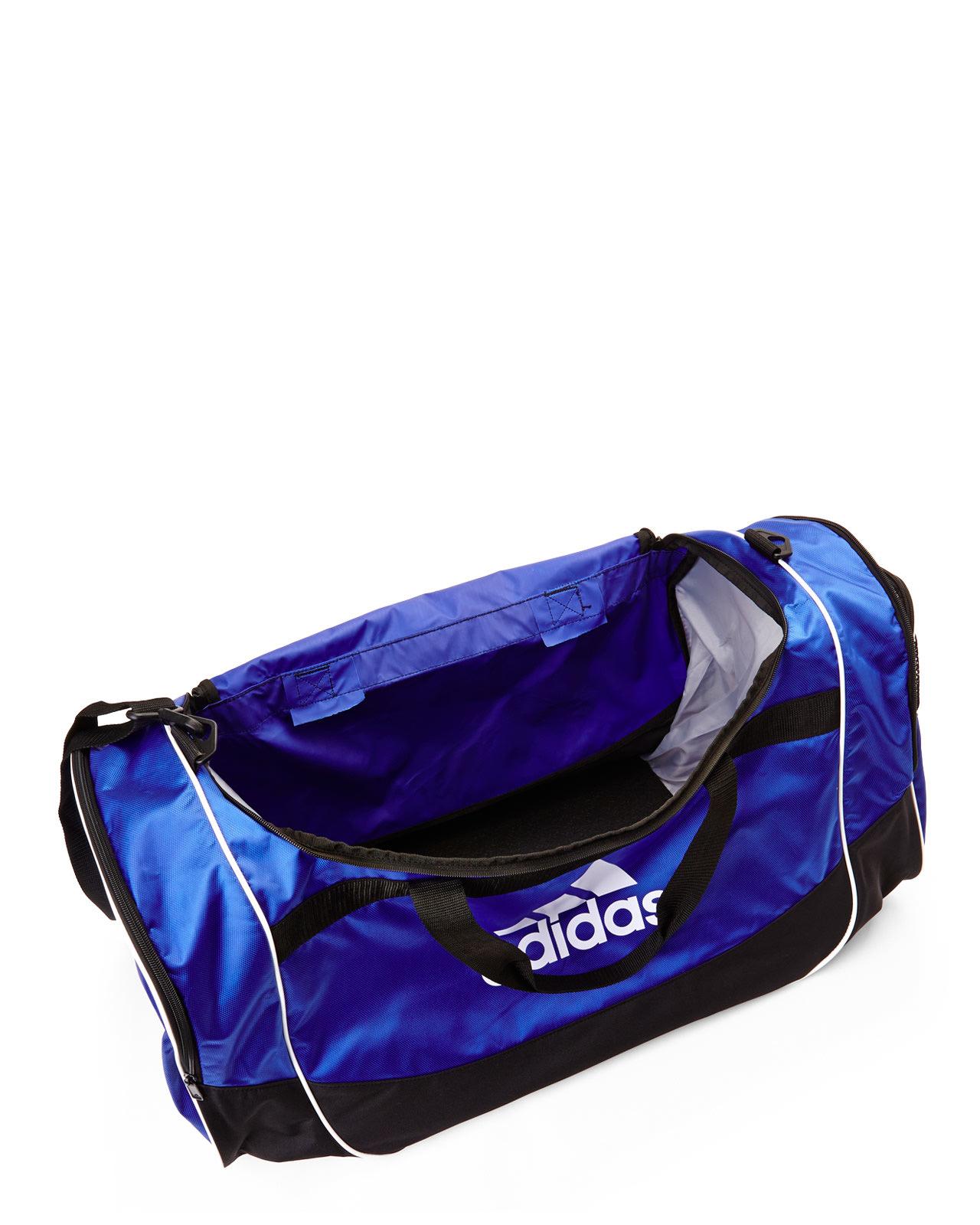 Lyst Adidas Black Amp Blue Defense Large Duffel Bag In