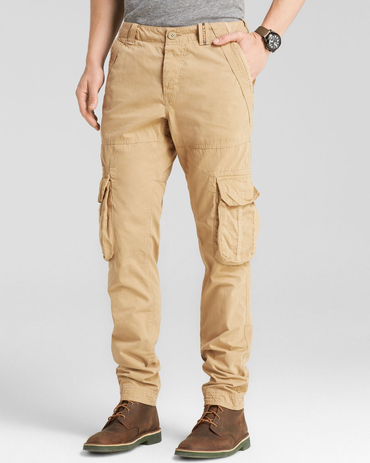 Superdry Slim Core Cargo Lite Pants in Natural for Men | Lyst