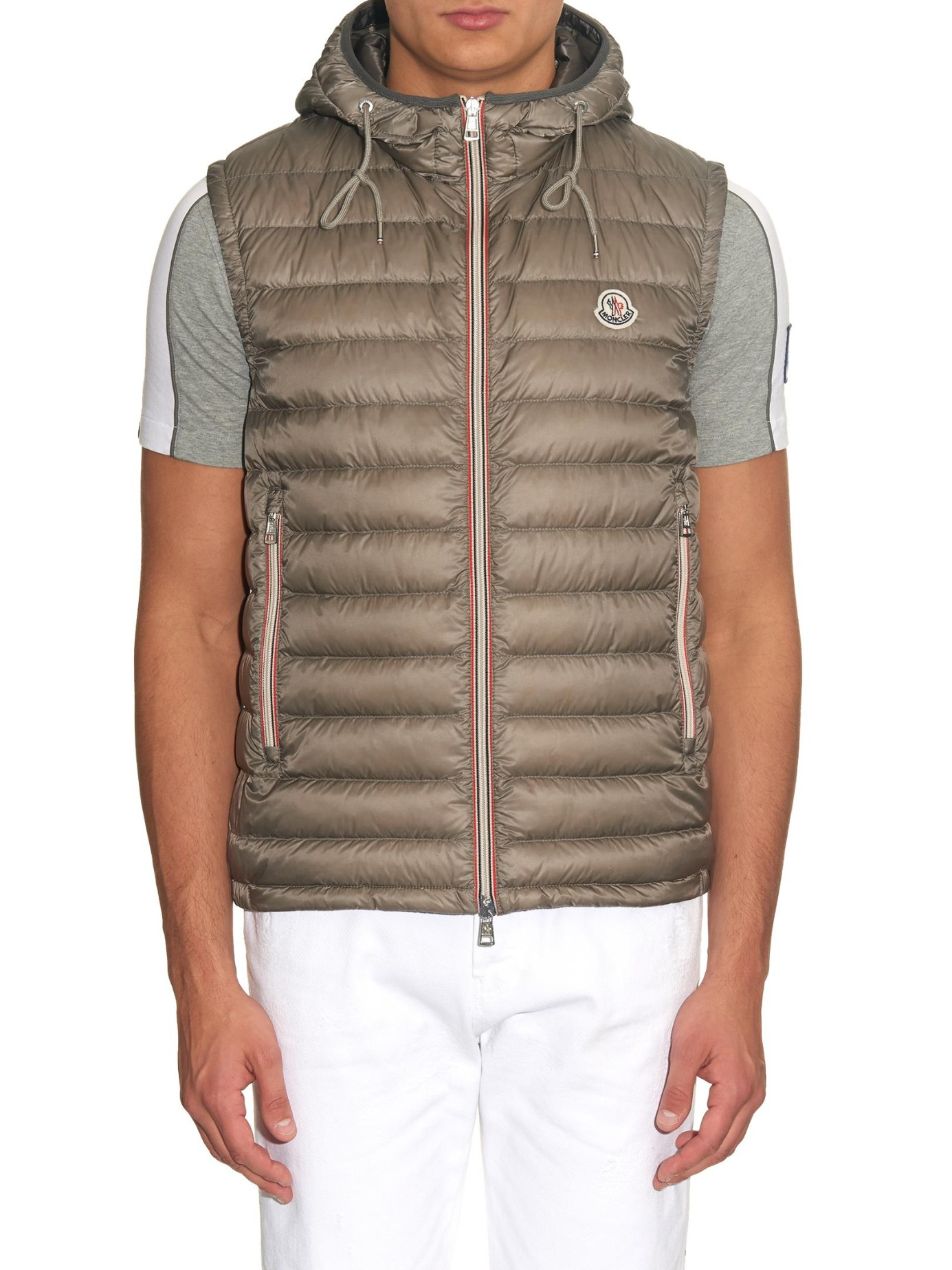 a01aabe34 Lyst - Moncler Naples Quilted Gilet in Gray for Men